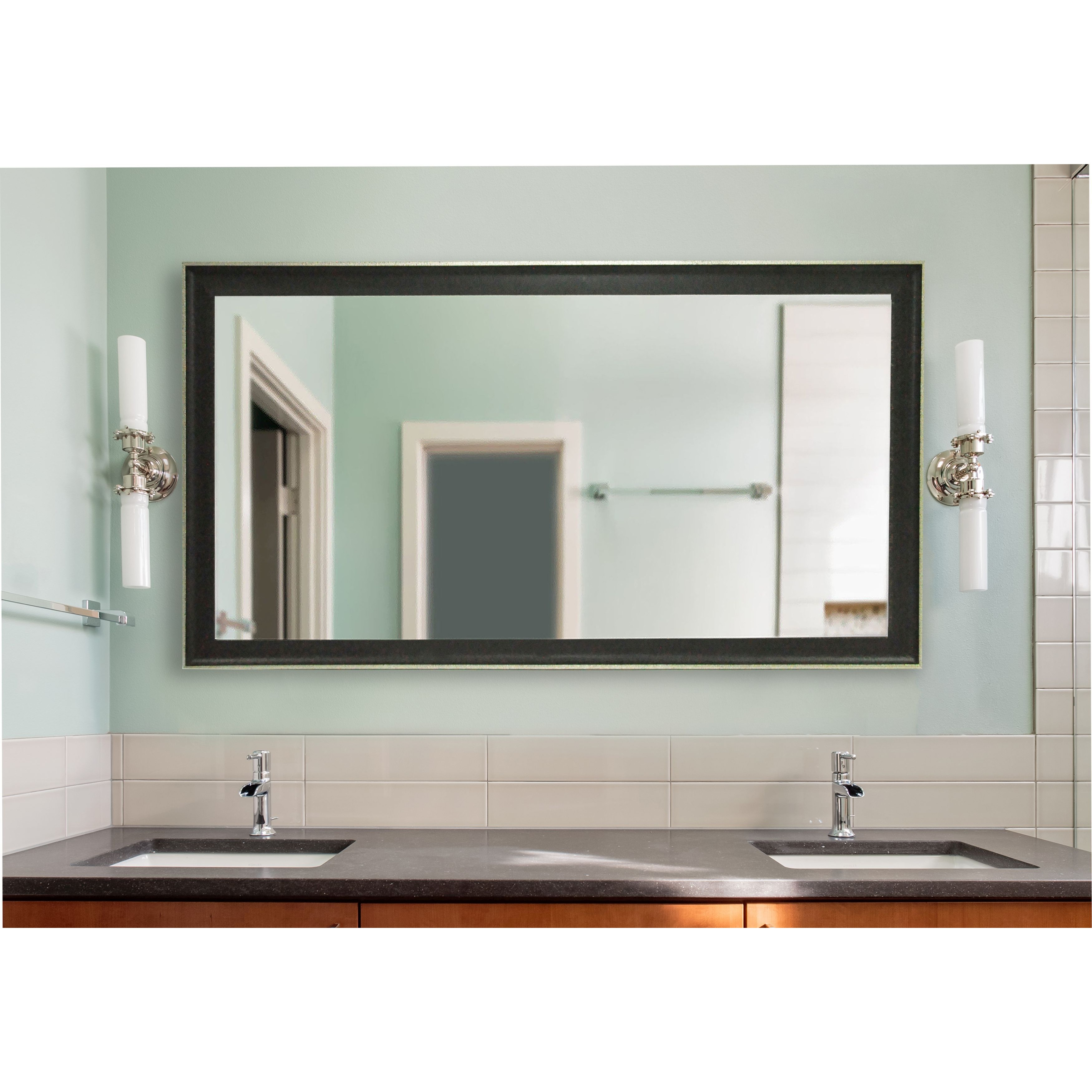 Rayne Mirrors Ava Extra Large Vintage Black Mirror Wayfair Throughout Extra Large Black Mirror (Image 11 of 15)