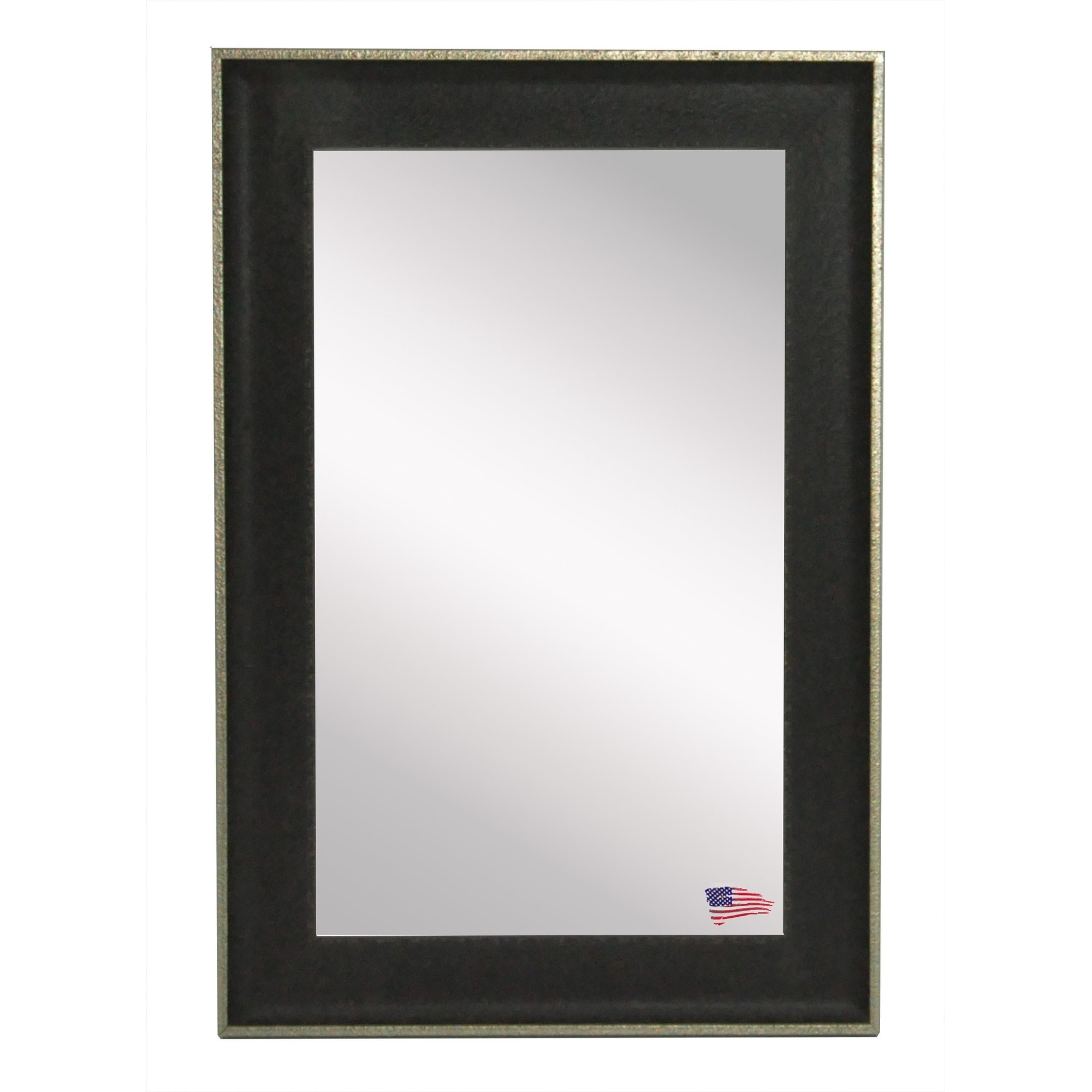 Rayne Mirrors Ava Vintage Black Mirror Wayfair With Black Vintage Mirror (Image 12 of 15)