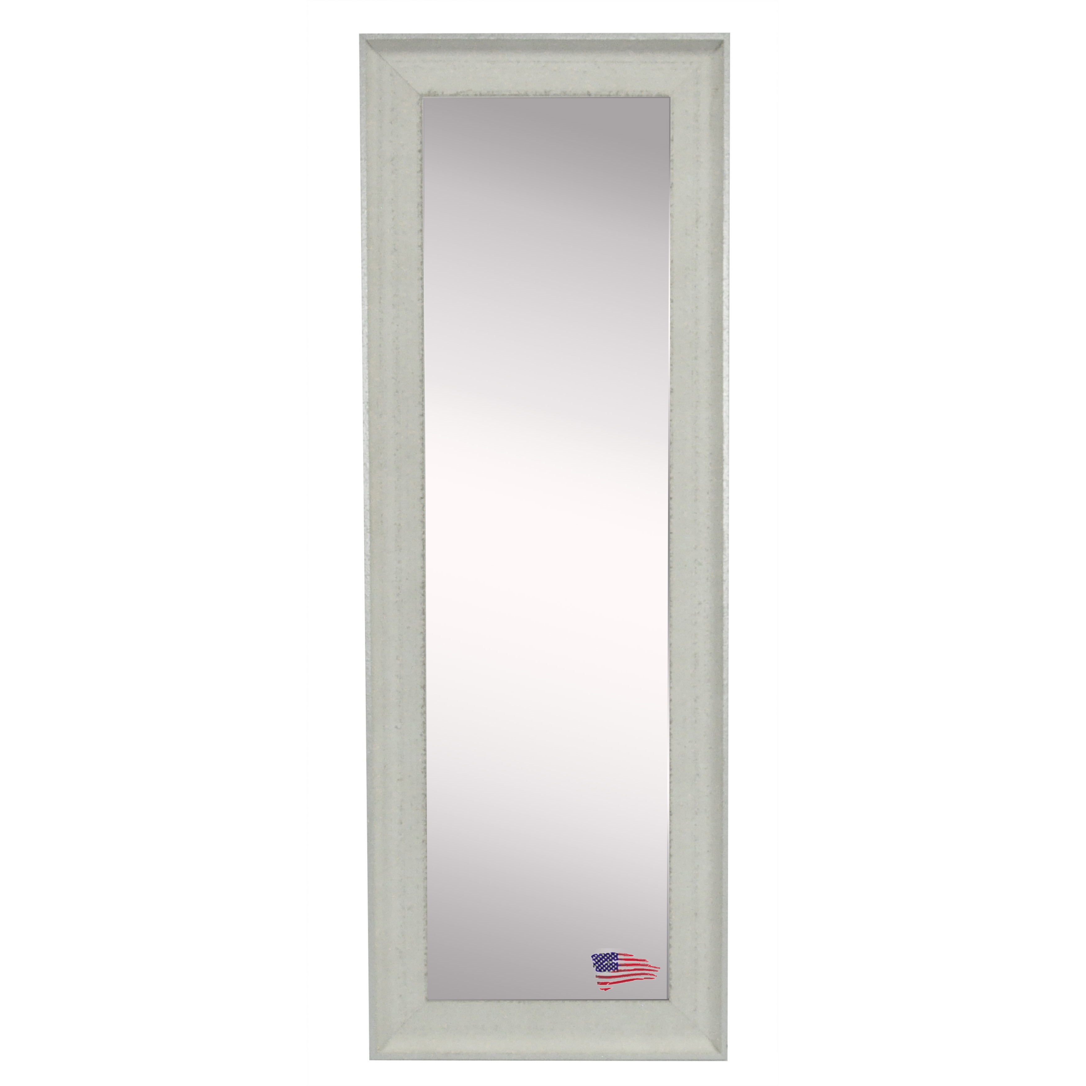 Rayne Mirrors Ava Vintage White Floorwall Mirror Wayfair Inside Vintage White Mirror (Image 5 of 15)