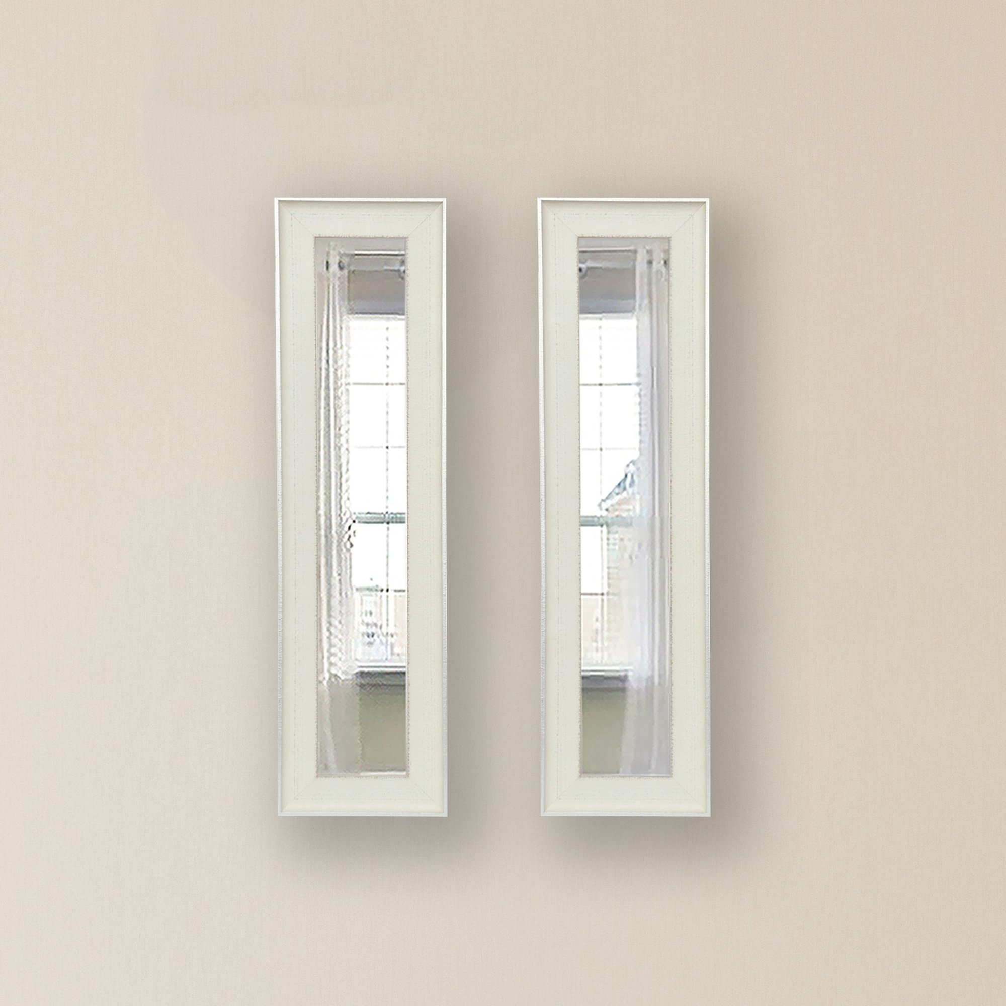 Rayne Mirrors Molly Dawn Vintage White Mirror Panels Reviews With Regard To Vintage White Mirror (Image 6 of 15)