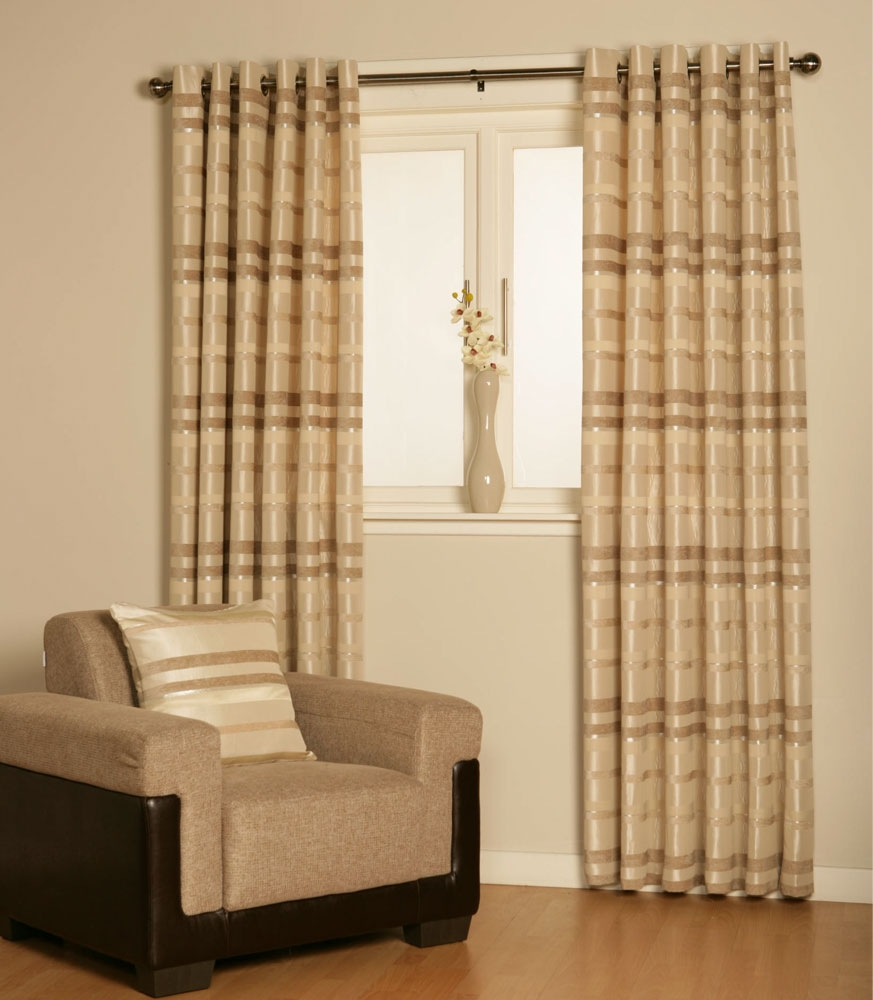 Ready Made Curtains Texcraft From Linen Lace And Patchwork For Cream And Gold Eyelet Curtains (Image 14 of 15)
