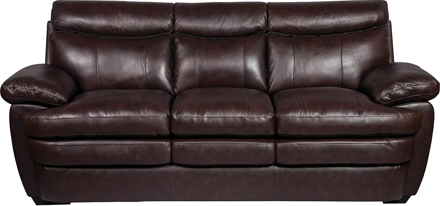 Real Leather Sofa With Brick Sofas (Image 10 of 15)