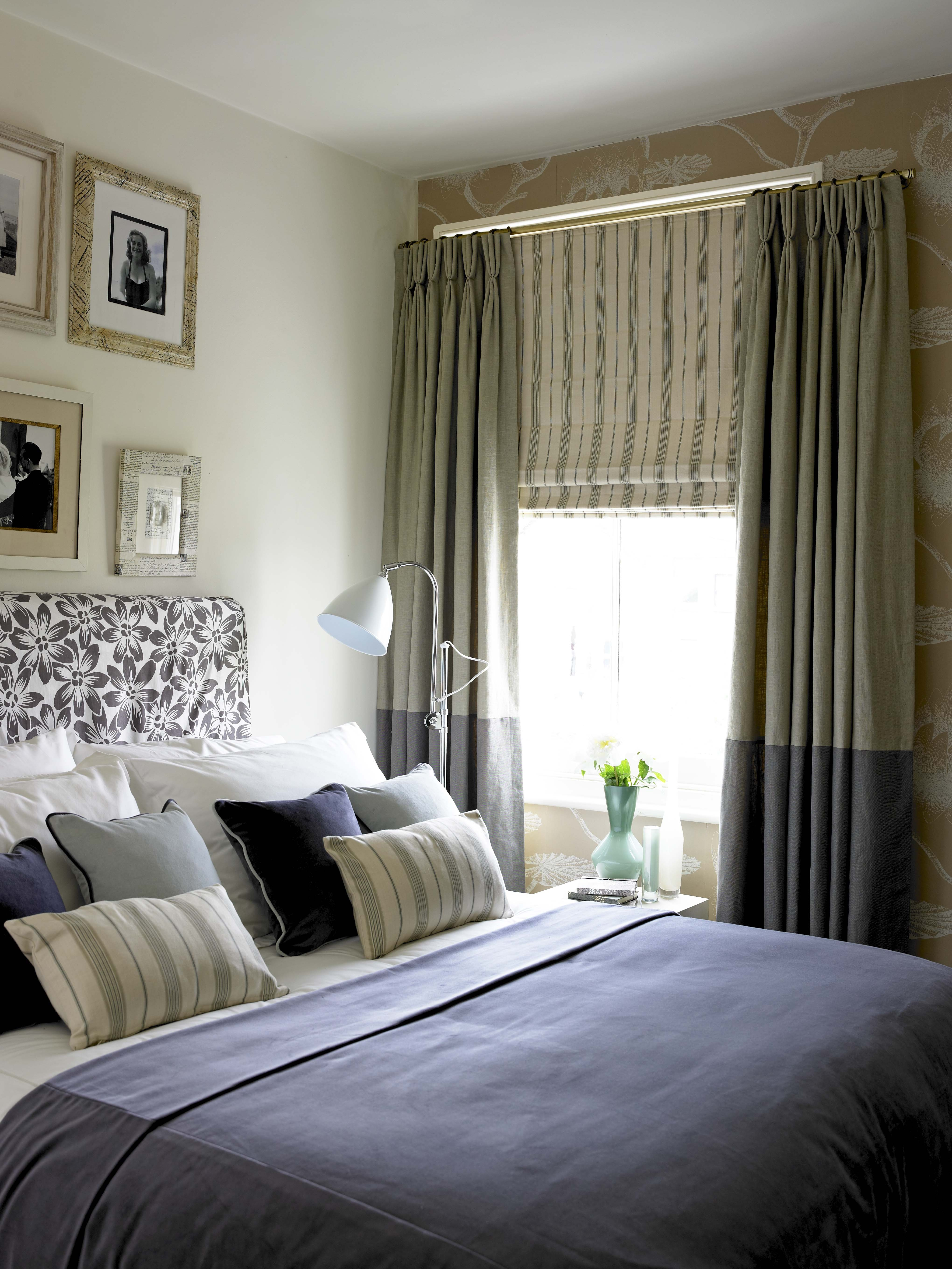 Really Like The Roman Blind And The Two Tone Curtains Combined In Blackout Curtains And Blinds (Image 12 of 15)