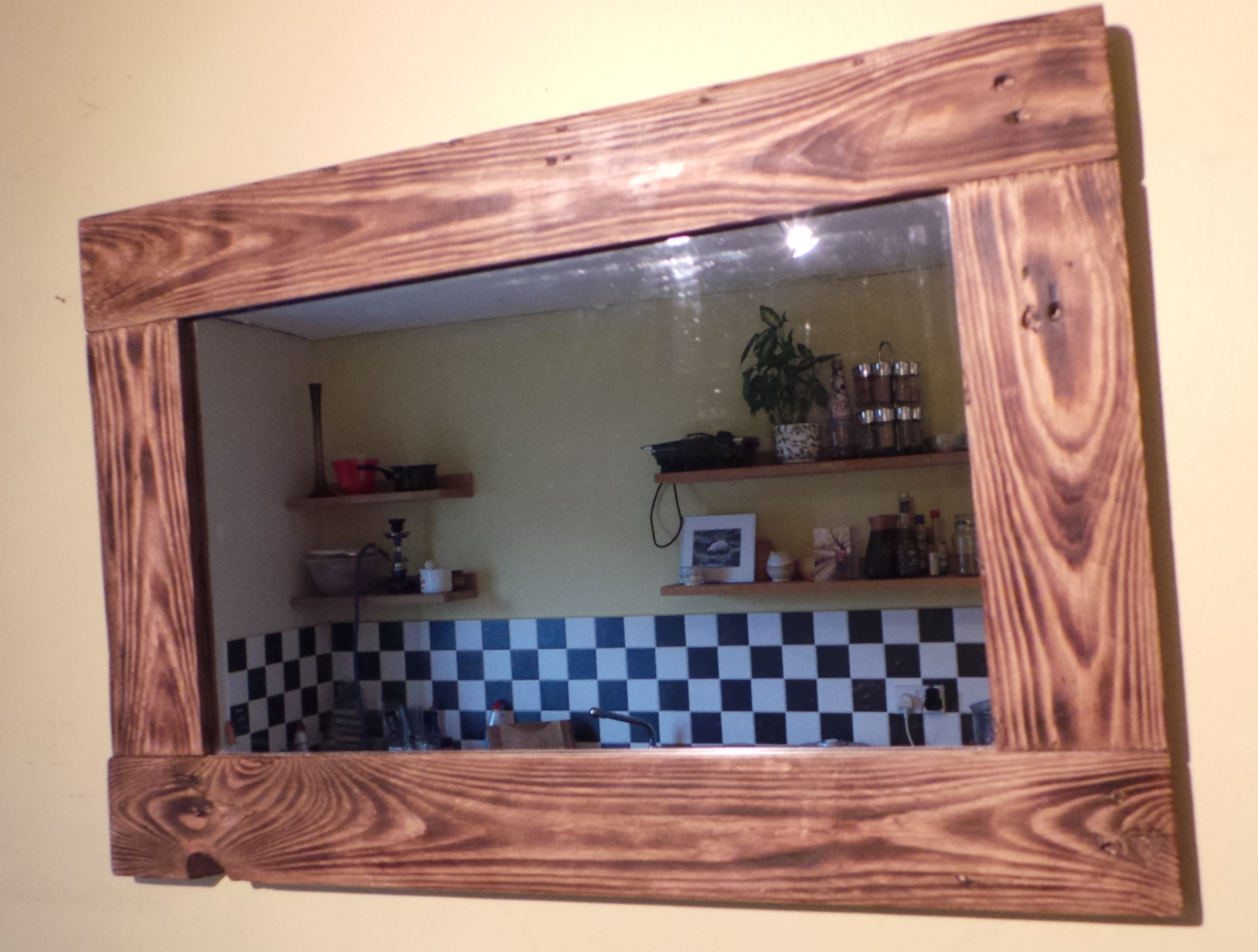 Reclaimed Wood Mirrors Daves Beach Hut With Oak Framed Wall Mirrors (Image 13 of 15)