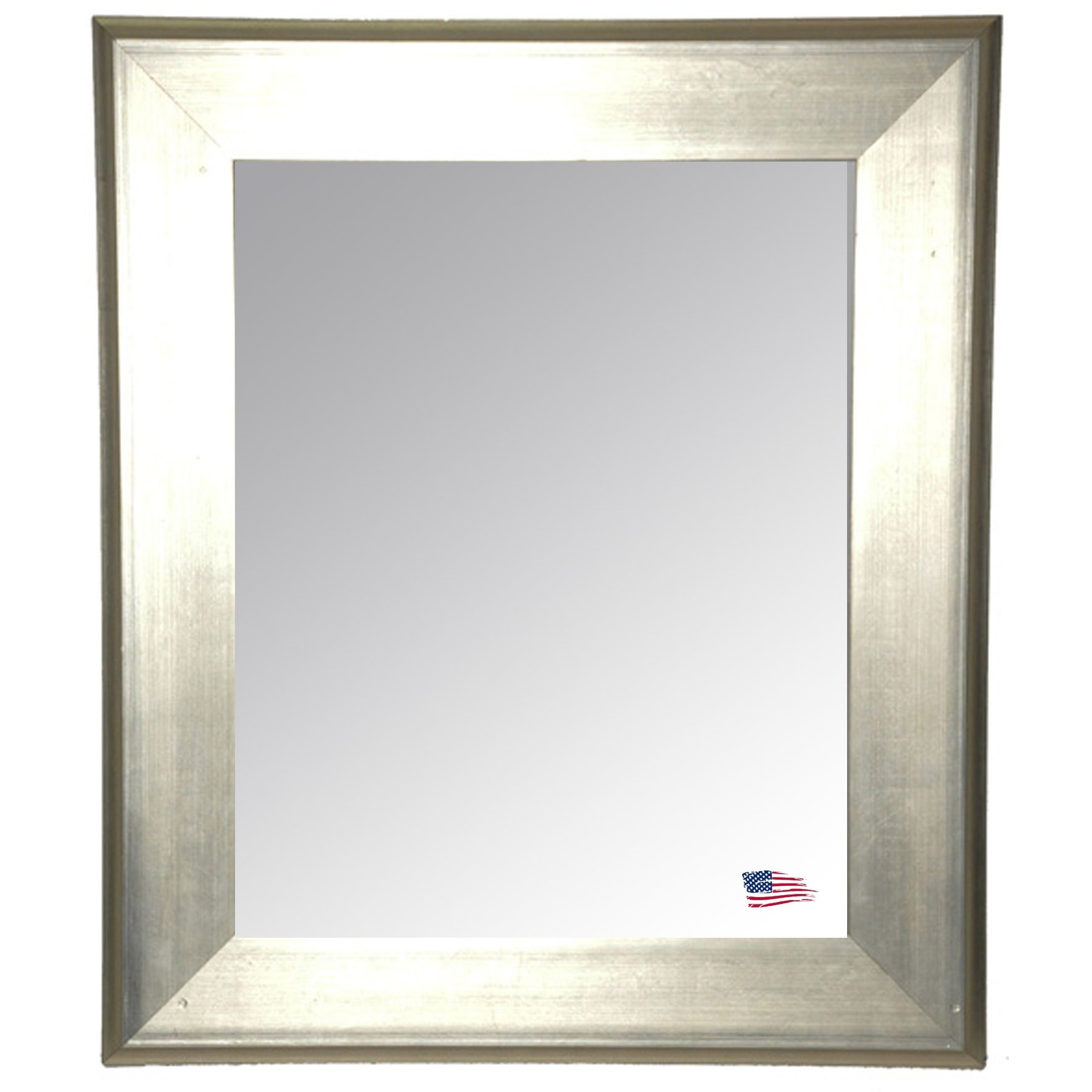 Rectangle Antique Silver Wall Mirror Reviews Allmodern For Antiqued Wall Mirror (Image 10 of 15)