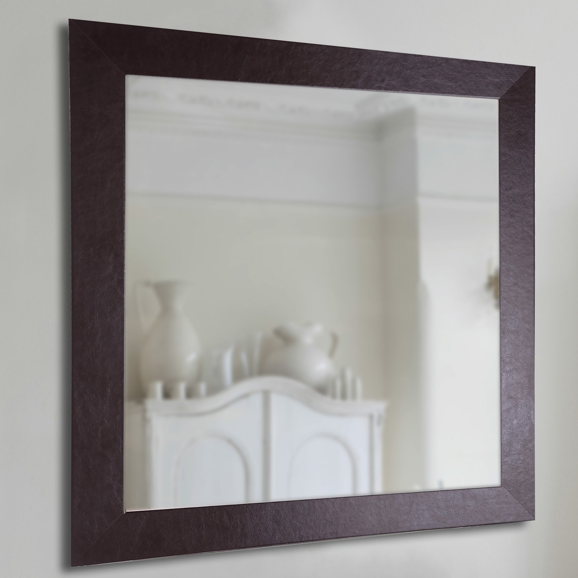 Rectangle Leather Wall Mirror Reviews Birch Lane With Regard To Leather Wall Mirrors (Image 13 of 15)