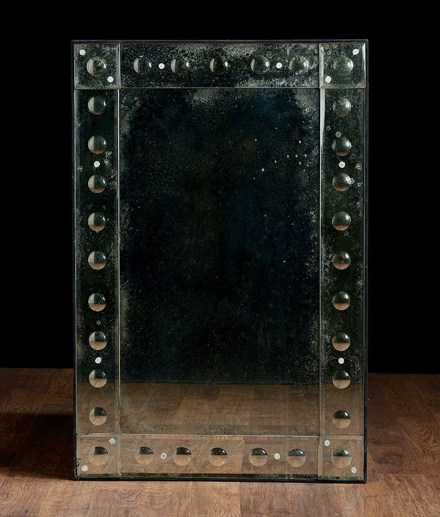Rectangular Antiqued Aged Venetian Mirror Mecox Gardens Within Venetian Bubble Mirror (Image 7 of 15)