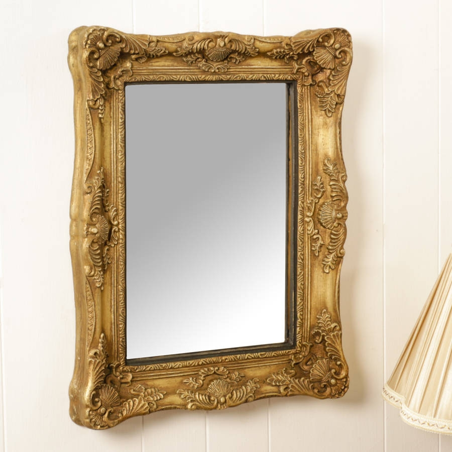 Rectangular Gold Ornate Mirror Dibor Notonthehighstreet Pertaining To Gold Ornate Mirror (Image 11 of 15)