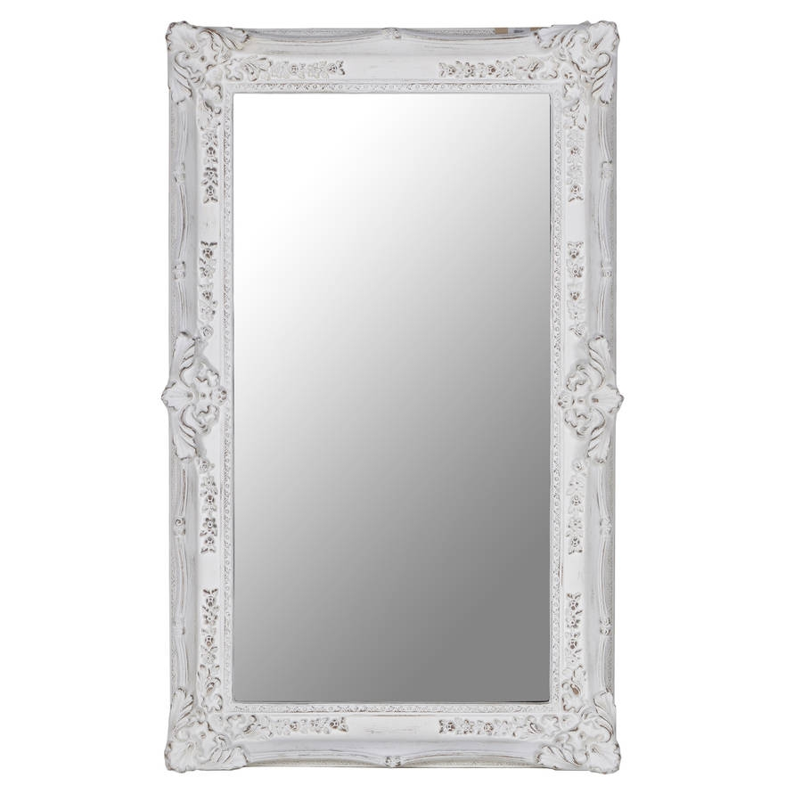 Rectangular Ornate Mirror In White Out There Interiors Within Ornate White Mirror (Image 8 of 15)