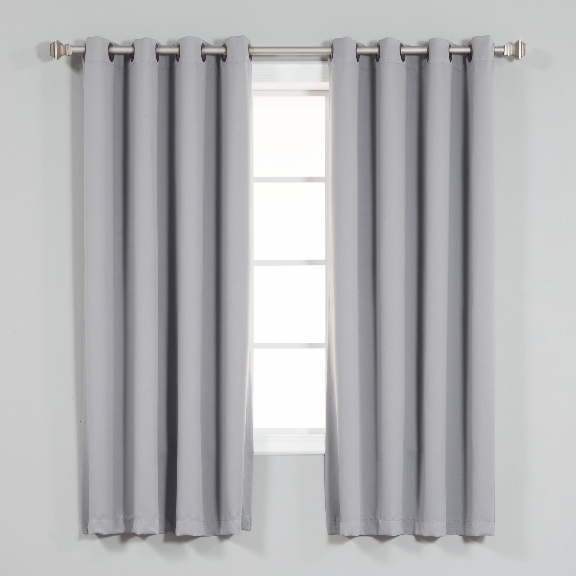 Red Barrel Studio Fairhaven Basic Solid Blackout Thermal Grommet In White Thermal Curtains (Image 11 of 15)
