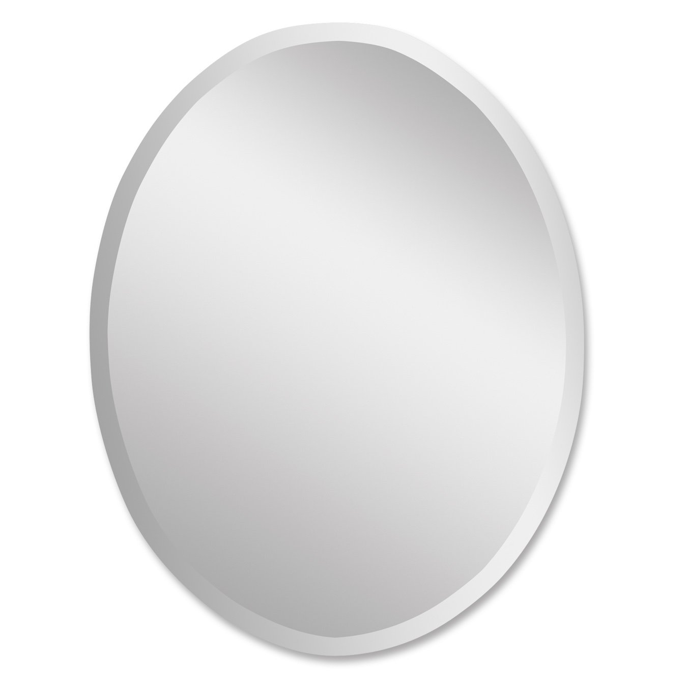 Red Barrel Studio Frameless Vanity Oval Wall Mirror Reviews In White Oval Wall Mirror (Image 9 of 15)