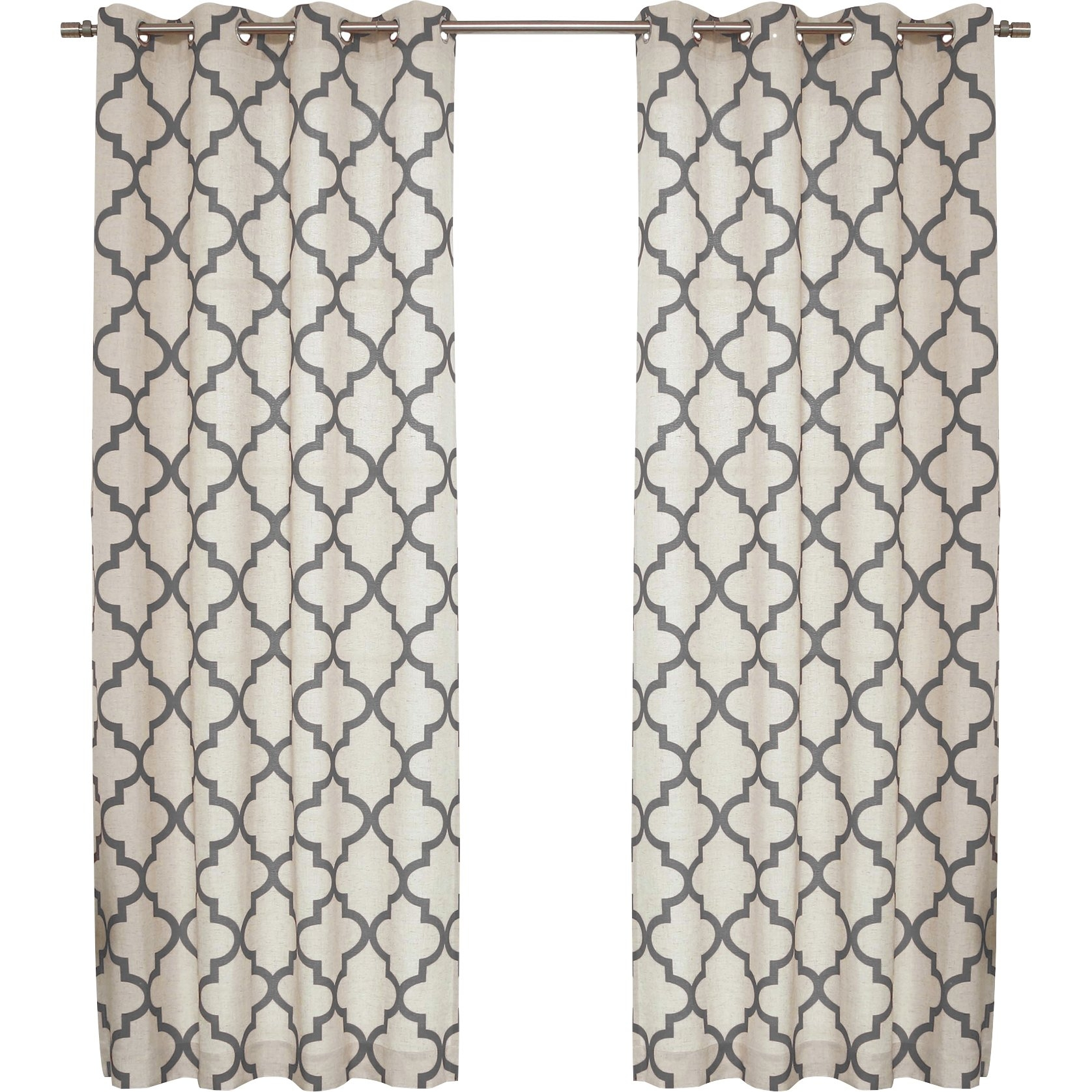Red Barrel Studio Lakewood Moroccan Tile Curtain Panels Reviews With Moroccan Tile Curtains (Image 13 of 15)