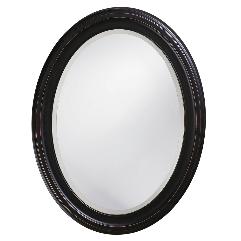 Red Barrel Studio Oval Wood Wall Mirror Reviews Wayfair Within White Oval Wall Mirror (Image 10 of 15)