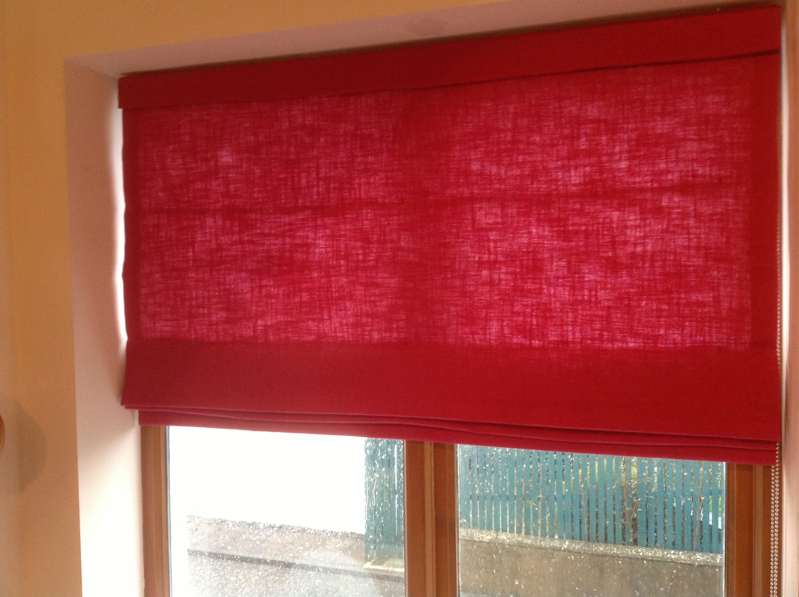 Red Blinds For Kitchen Inside Red Roman Blinds Kitchen (View 4 of 15)