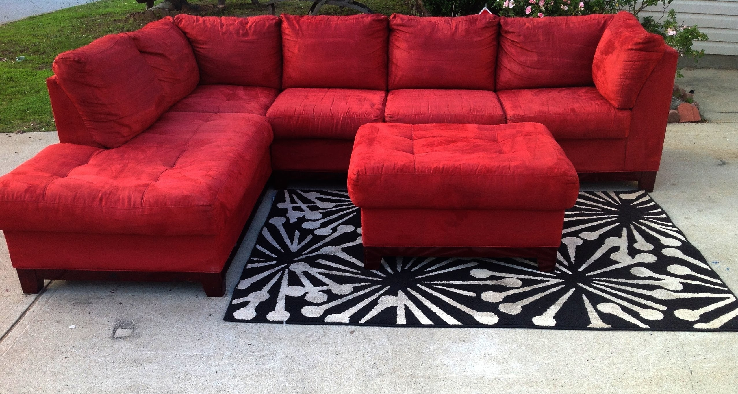 Red Cindy Crawford Stlye Sectional 475 Youtube Intended For Cindy Crawford  Home Sectional Sofa (Image