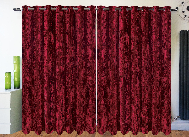 Red Velvet Curtains Etsy Regarding Velveteen Curtains (View 14 of 15)