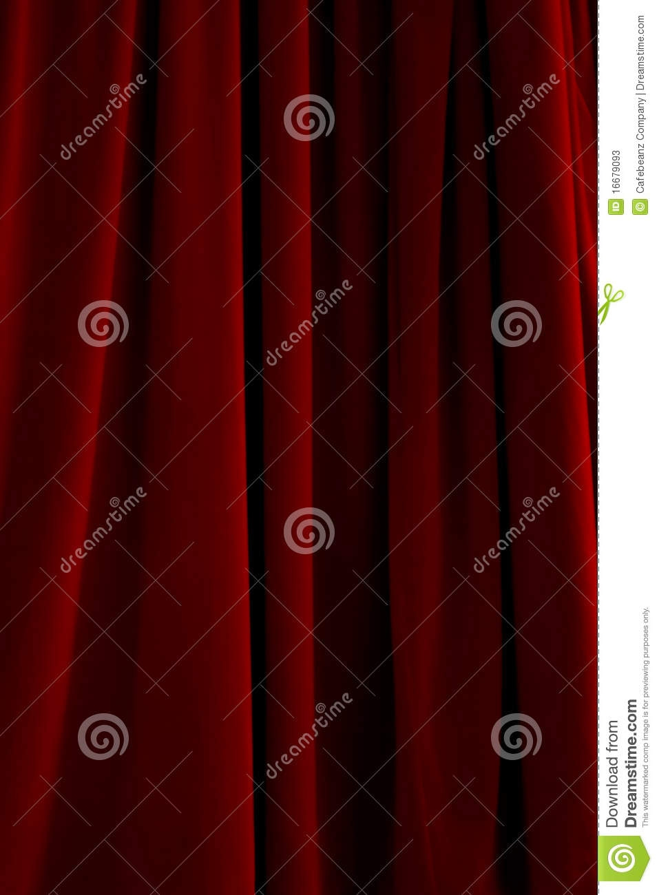 Red Velvet Drapes Stock Photos Image 16679093 Intended For Dark Red Velvet Curtains (Image 10 of 15)