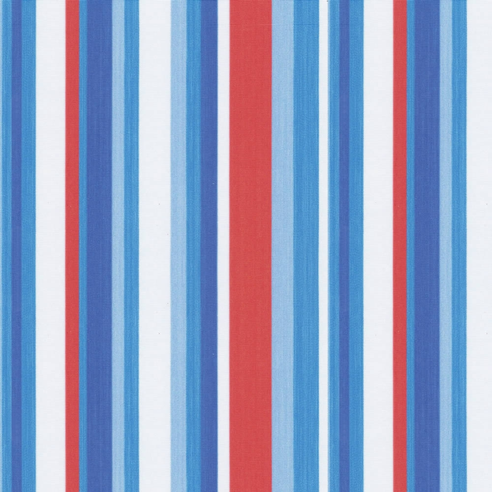 Red White Blue Kids Striped Blackout Bedroom Roller Blinds Regarding Blue And White Striped Roman Blinds (View 4 of 15)