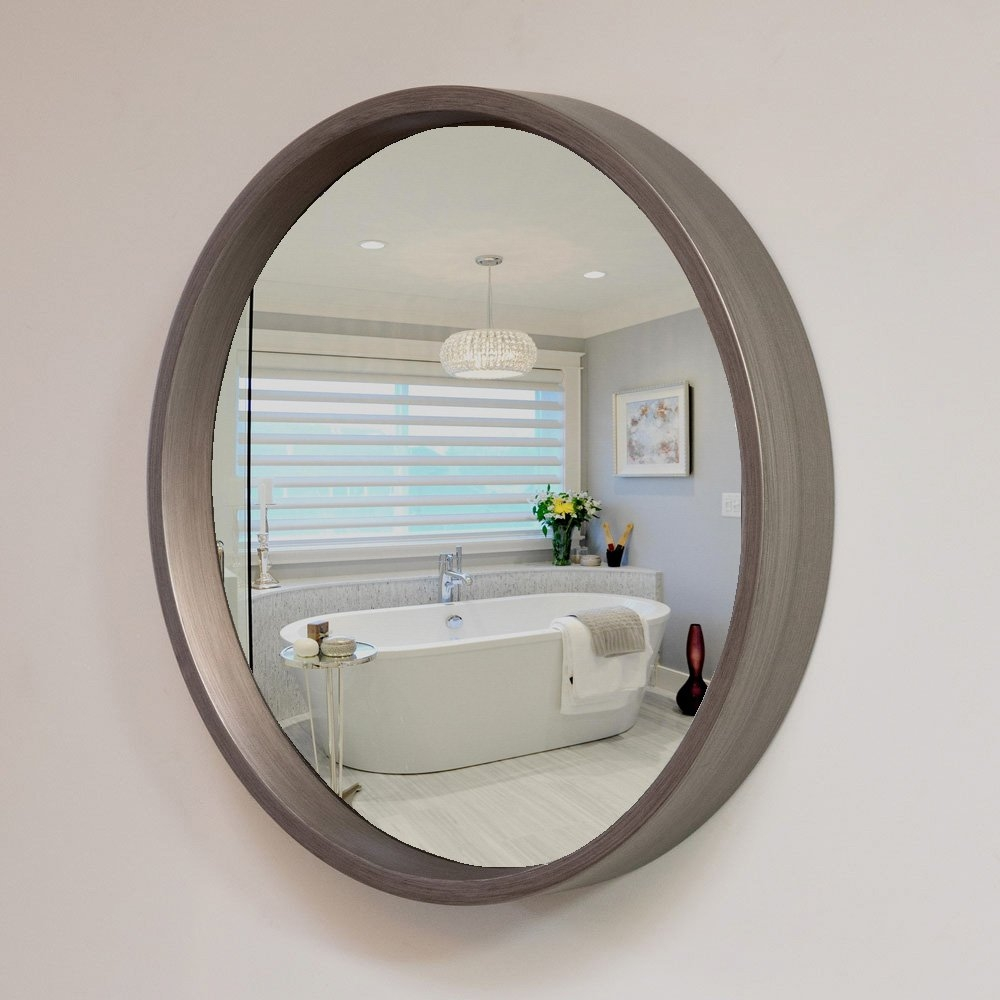 Reflecting Design Leland 38 Decorative Convex Wall Mirror With Regard To Convex Wall Mirrors (Image 10 of 15)