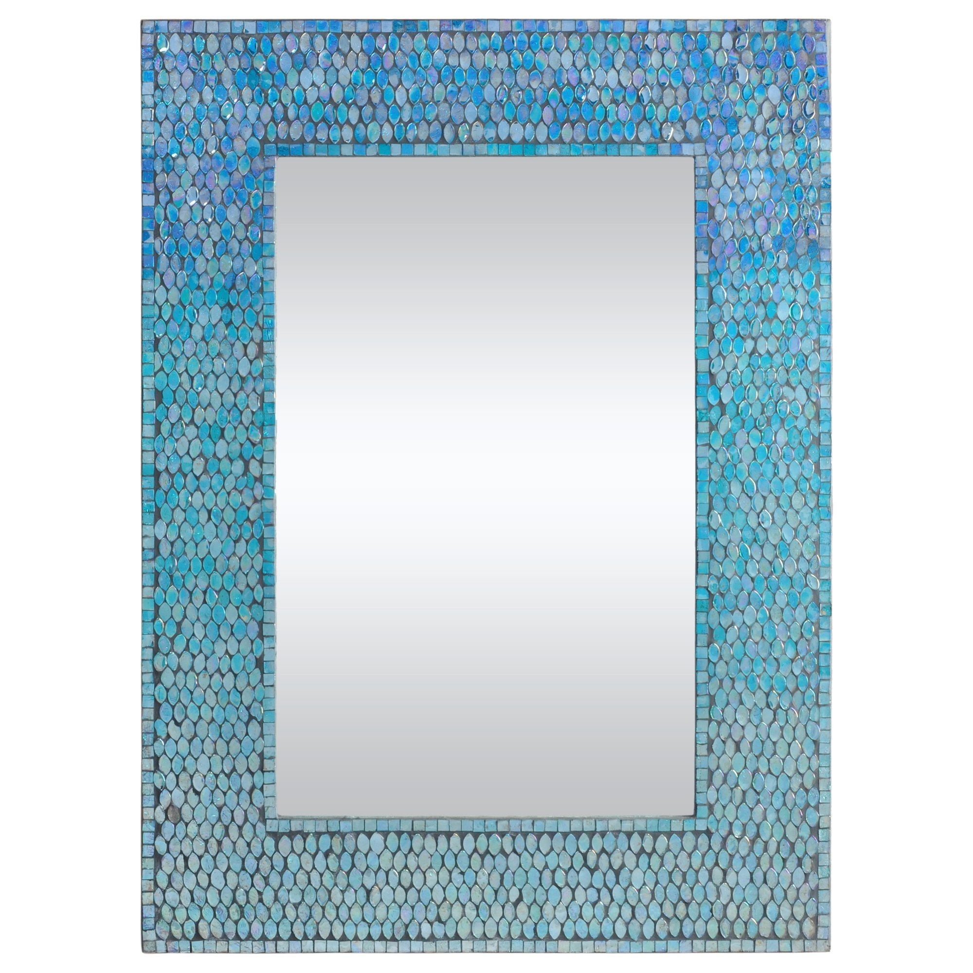 Ren Wil Catarina Accent Wall Mirror Reviews Wayfair Within Mirror With Blue Frame (View 9 of 15)