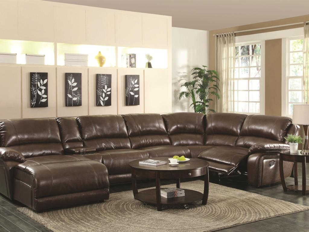 Renowned Couch With Recliner And Chaise Tags 6 Piece Sectional Intended For 6 Piece Leather Sectional Sofa (Photo 5 of 15)