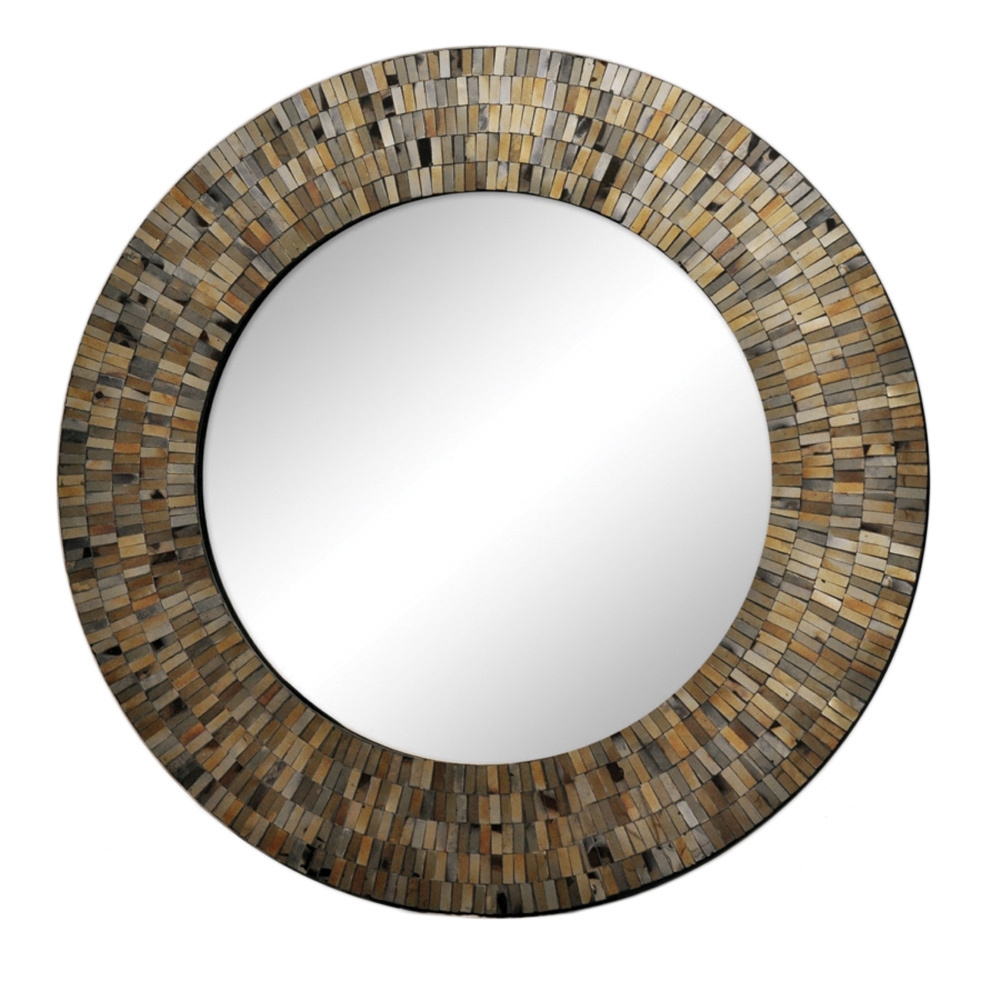 Renwil Aventurine Black Mosaic Mirror Renwil Great Deals Within Black Mosaic Mirror (Image 14 of 15)