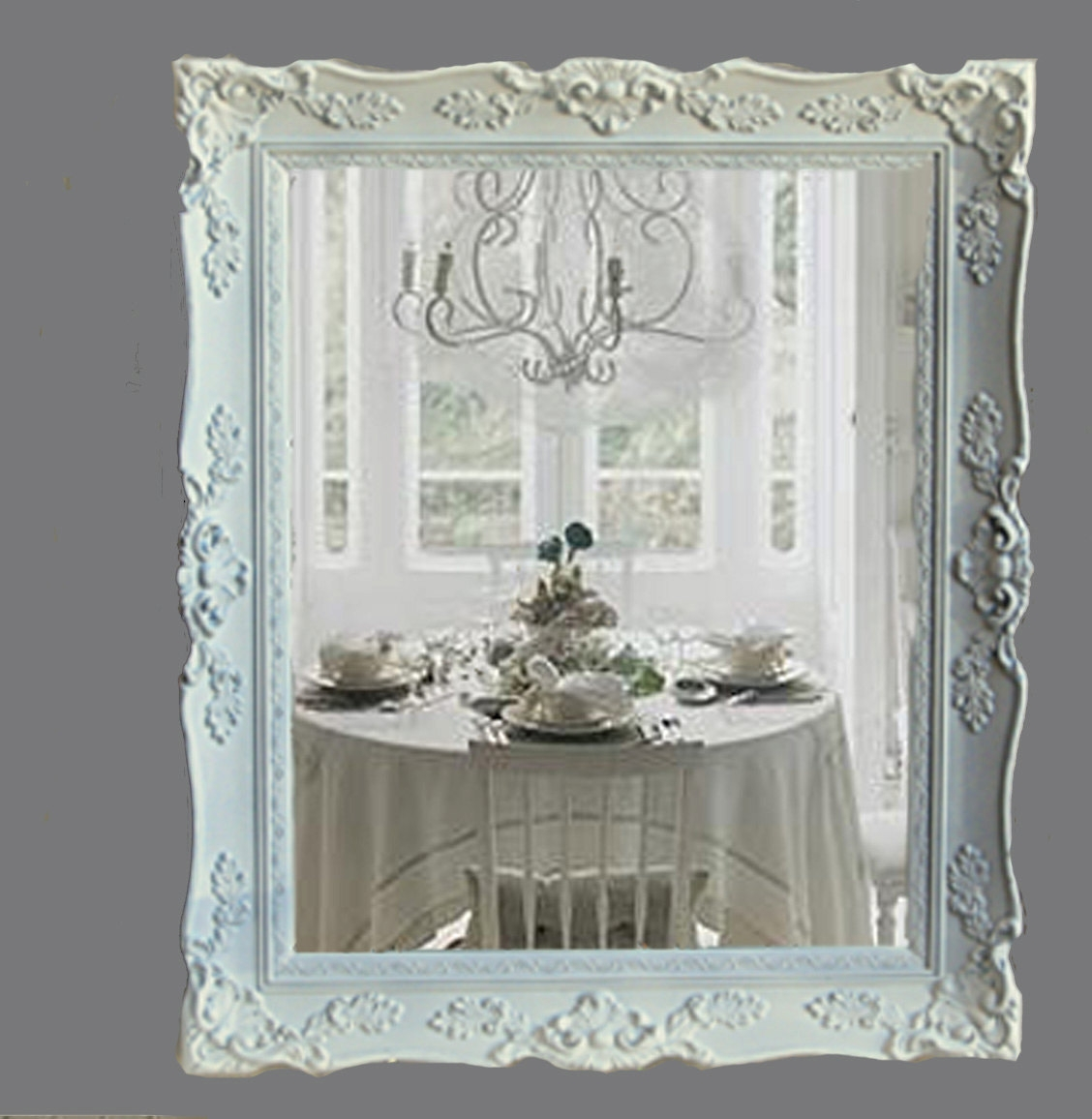 Reserved For Almashab Chic Mirror Cottage Chic White Inside Chabby Chic Mirrors (Image 9 of 15)