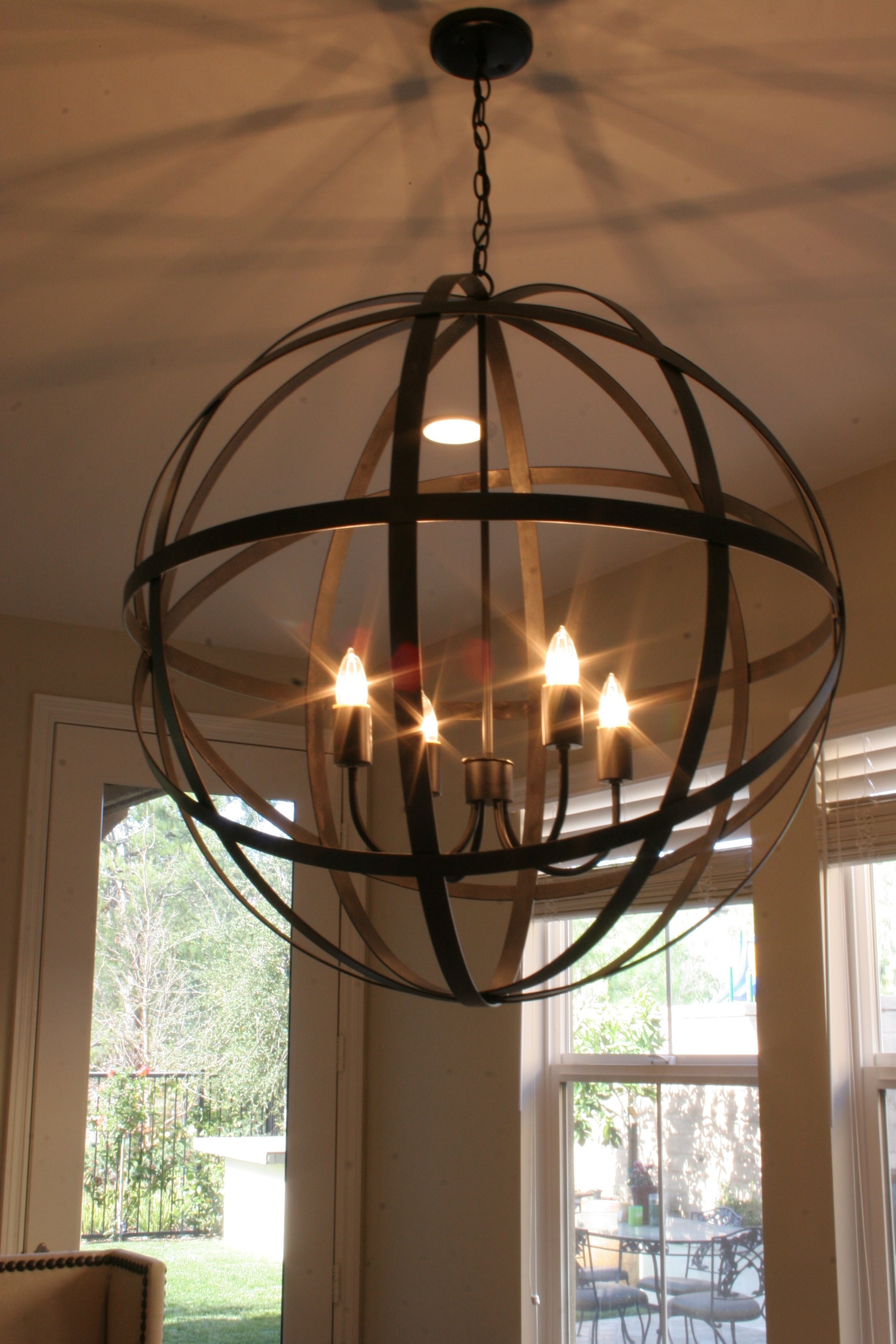 Restoration Hardware Chandelier Get The Junk Store Guy To Make A Pertaining To Large Globe Chandelier (Photo 9 of 15)