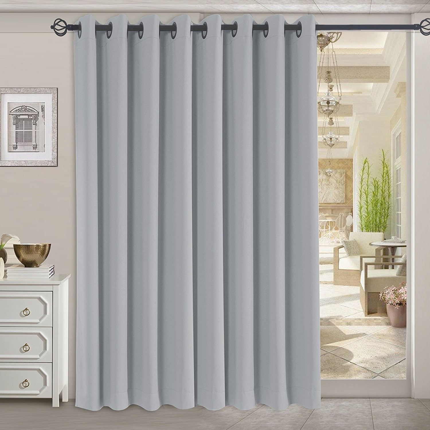 Rhf Thermal Insulated Blackout Patio Door Curtain Panel Sliding Pertaining To Thermal Door Curtains (Image 12 of 15)
