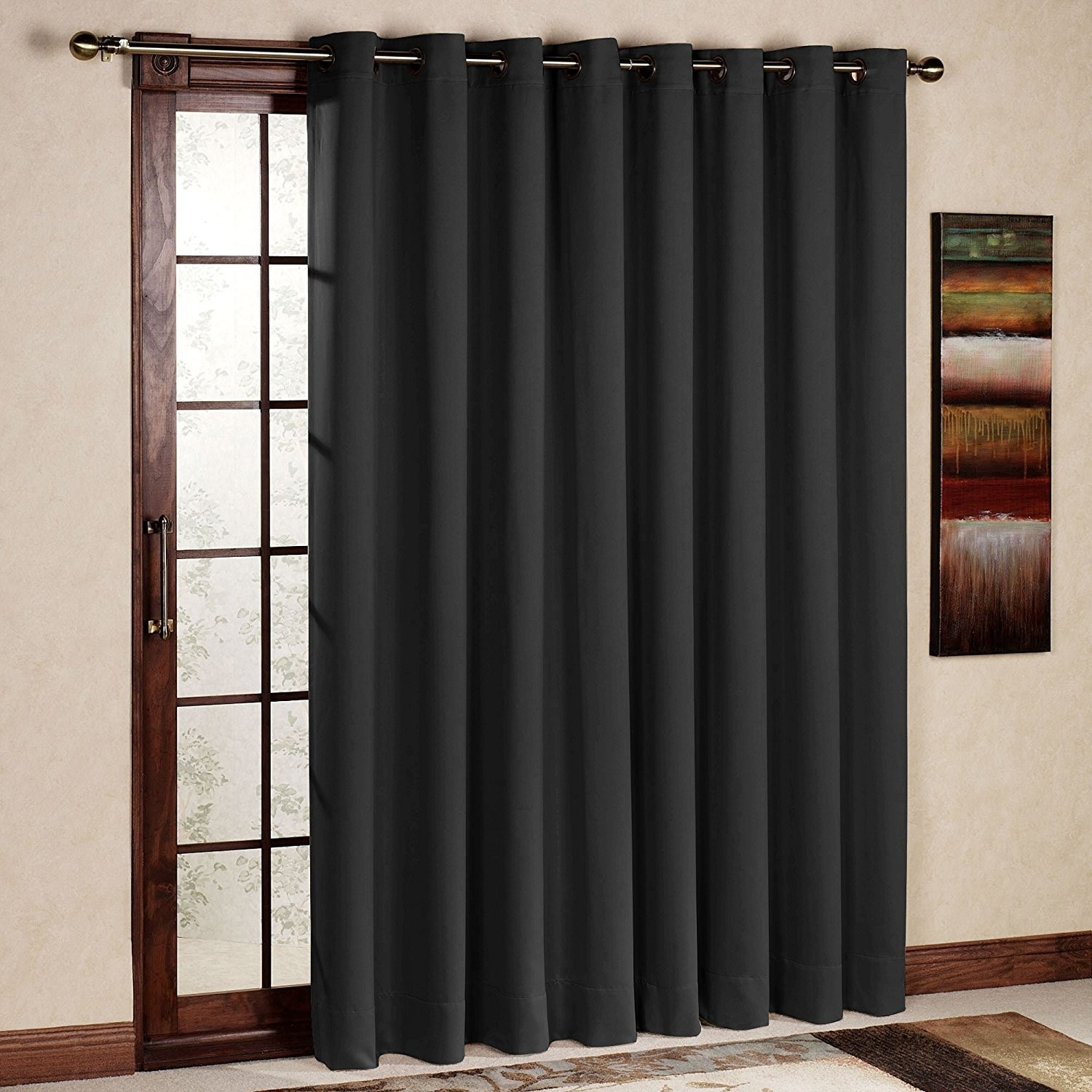 Rhf Thermal Insulated Blackout Patio Door Curtain Panel Sliding Regarding Thermal Door Curtain (View 14 of 15)