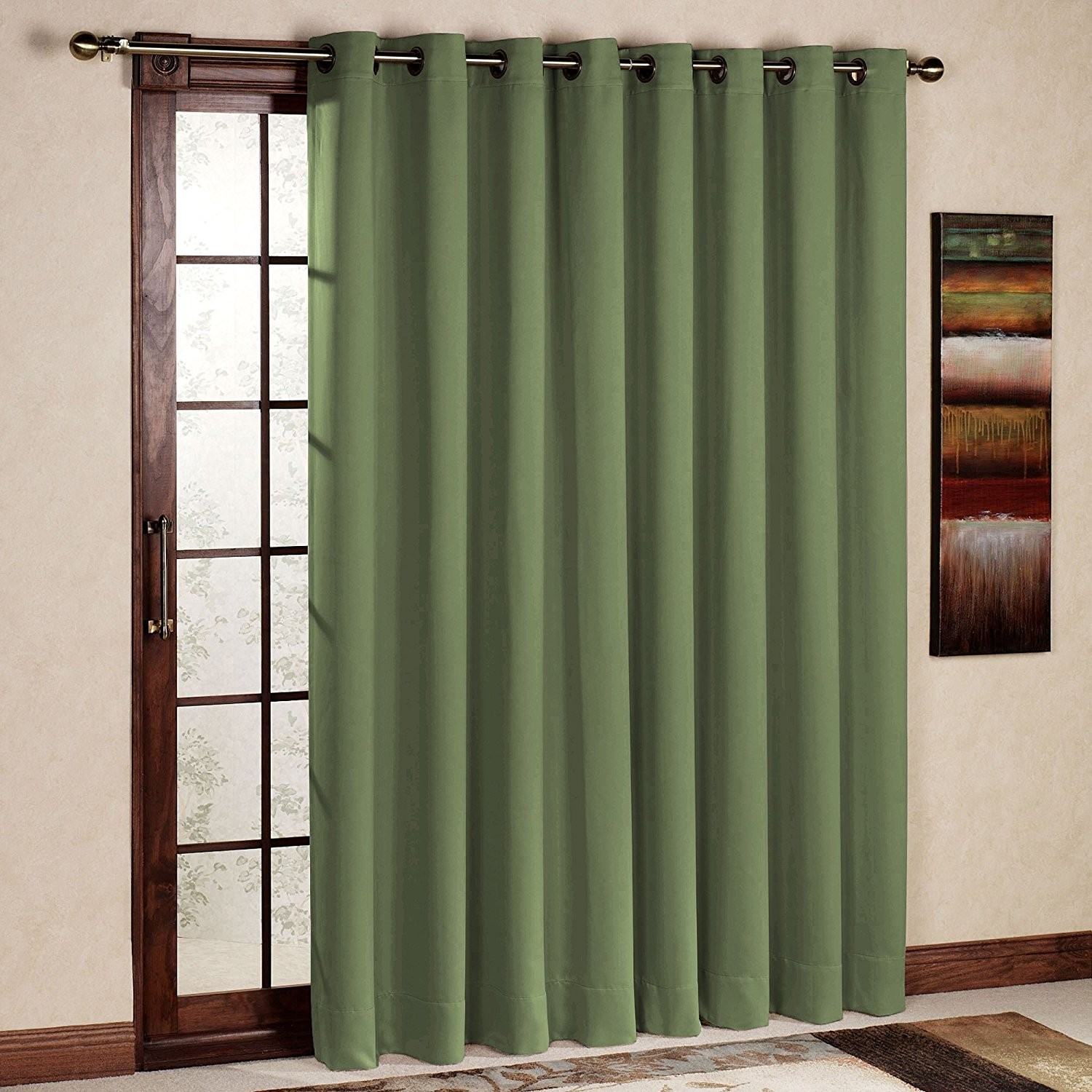 Rhf Thermal Insulated Blackout Patio Door Curtain Panel Sliding Regarding Thermal Door Curtains (Image 13 of 15)