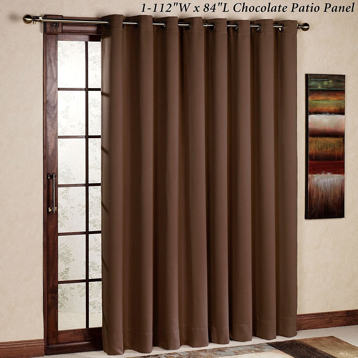 Rhf Wide Thermal Blackout Patio Door Curtain Panel Sliding Door Throughout Thermal Door Curtains (Image 14 of 15)