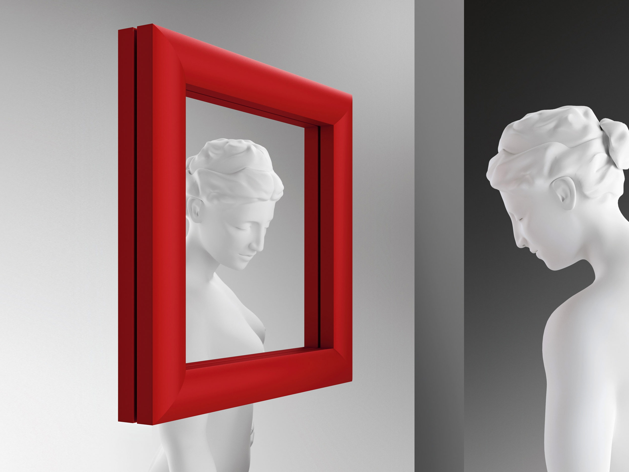 Ritratto Mirror Small Wall Mirror Glassdomain Within Red Wall Mirrors (Image 14 of 15)