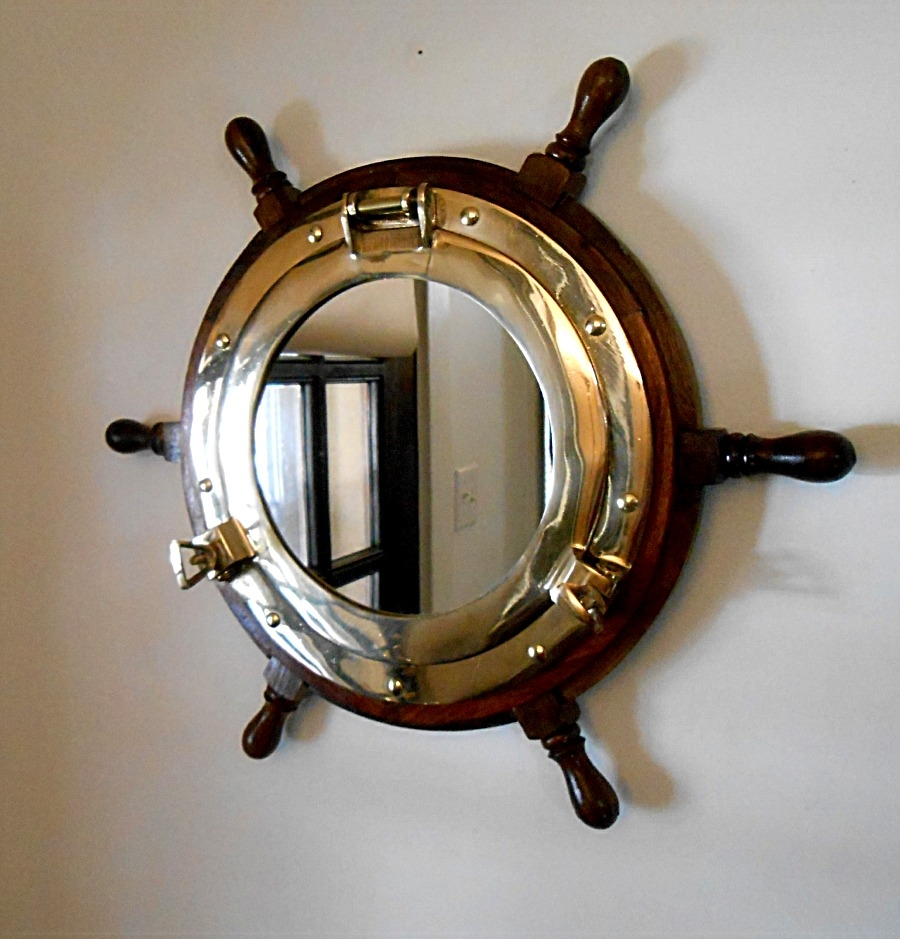 Topic Brass Porthole Mirror Uk