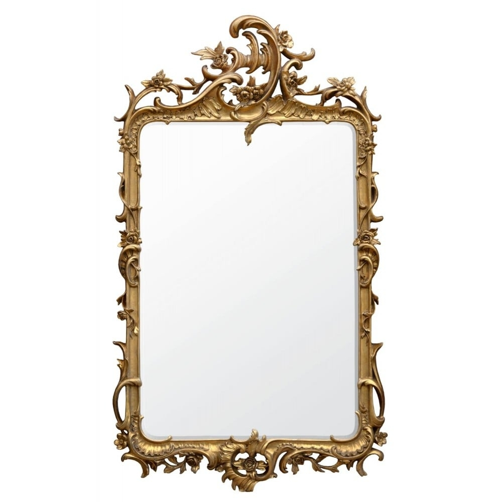 Rocaille Gold Antique French Style Mirror Mirrors With French Style Mirrors (Image 12 of 15)