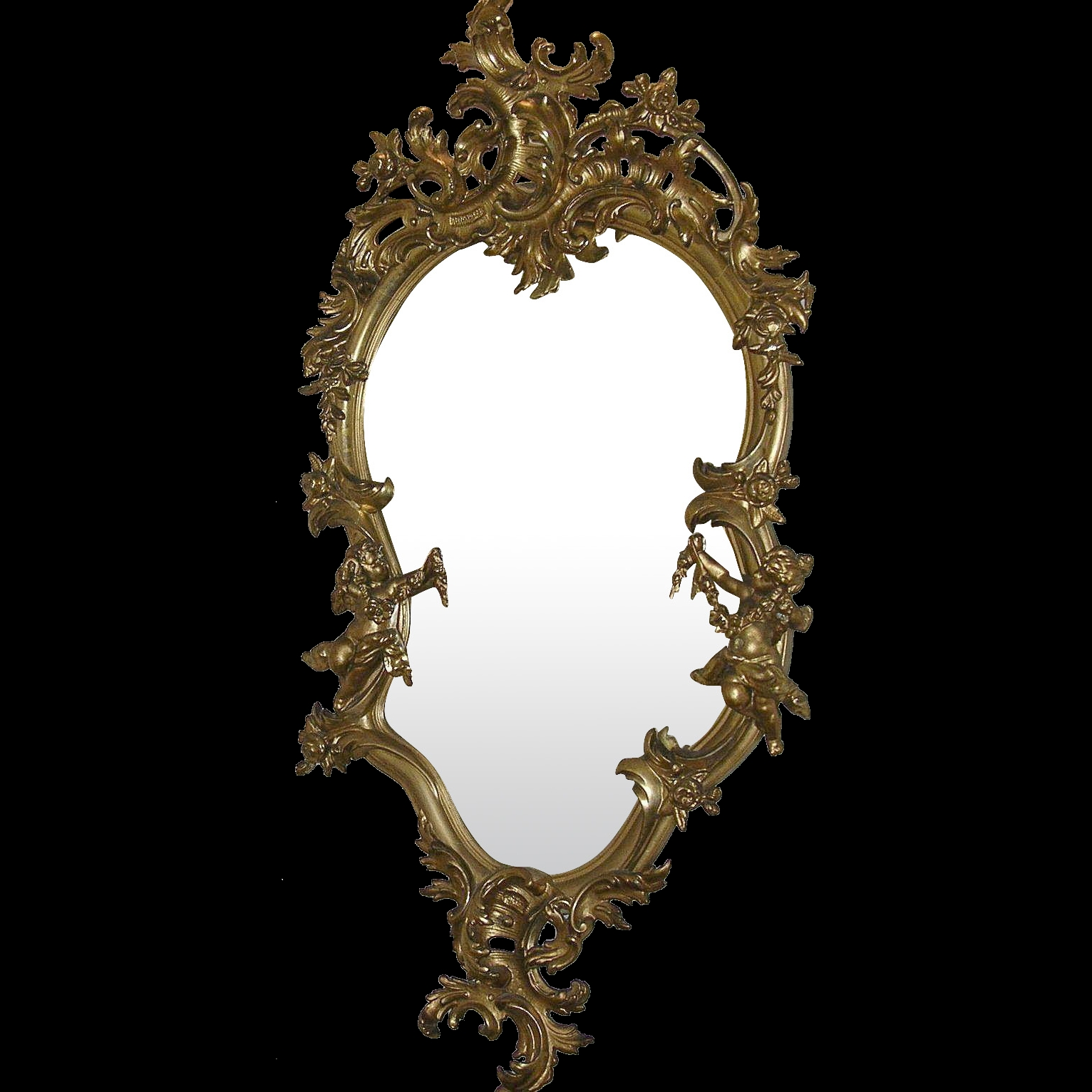 Rococo Gold Gilt Mirror 18th Century From Robbiaantique On Ru Lane Pertaining To Rococo Gold Mirror (Image 14 of 15)