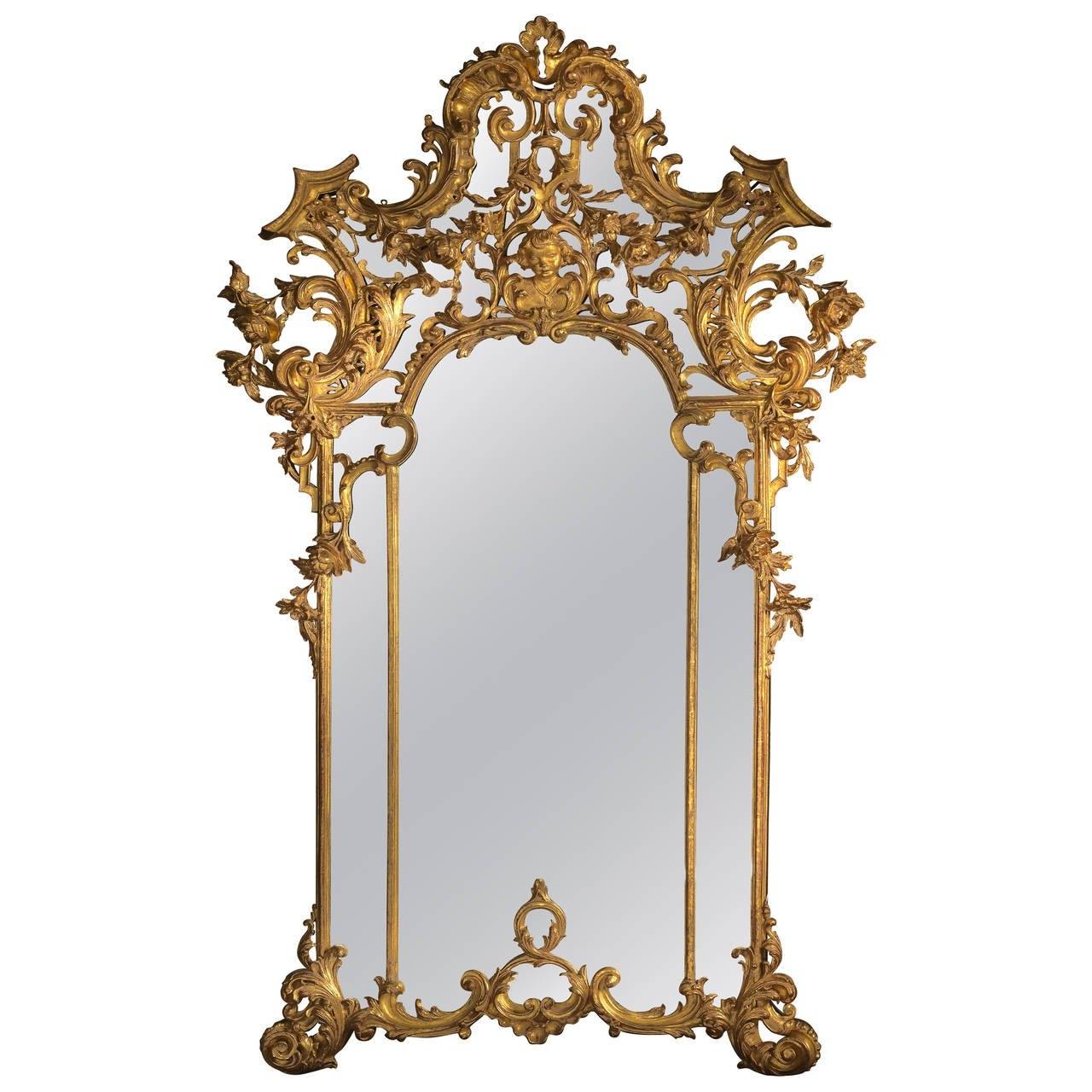 Rococo Style Giltwood Mirror For Sale At 1stdibs Regarding Rococo Style Mirrors (Image 13 of 15)
