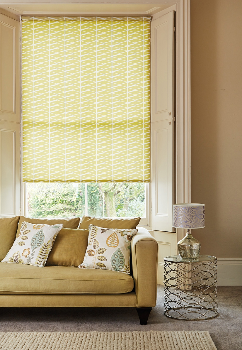 Roller Blinds Bourne Blinds Pertaining To Yellow Roman Blinds (View 6 of 15)