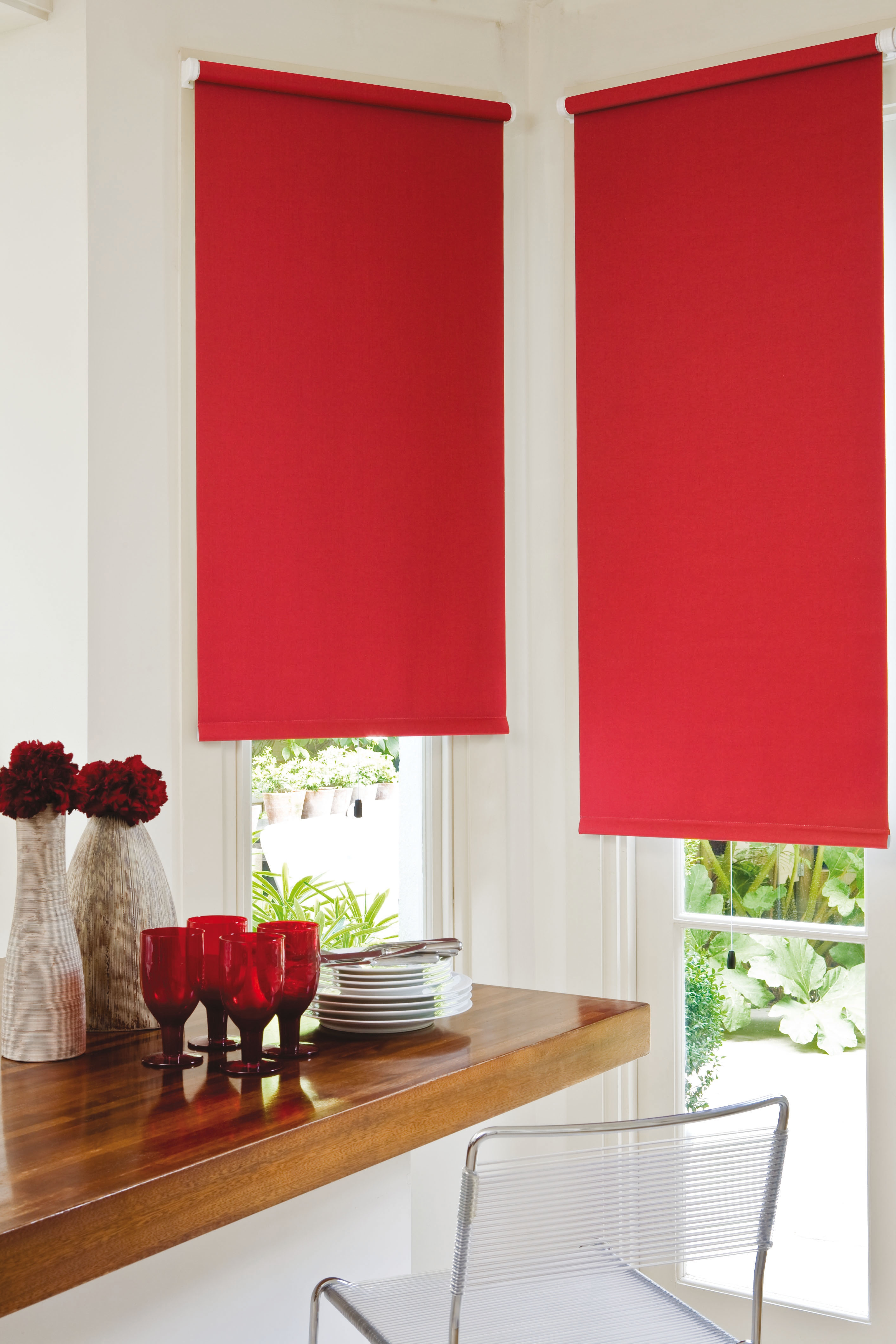 Wonderful Roller Blinds Guesthouse Pinterest Colors Textiles And Rollers Regarding Red  Roman Blinds Kitchen (Image 15