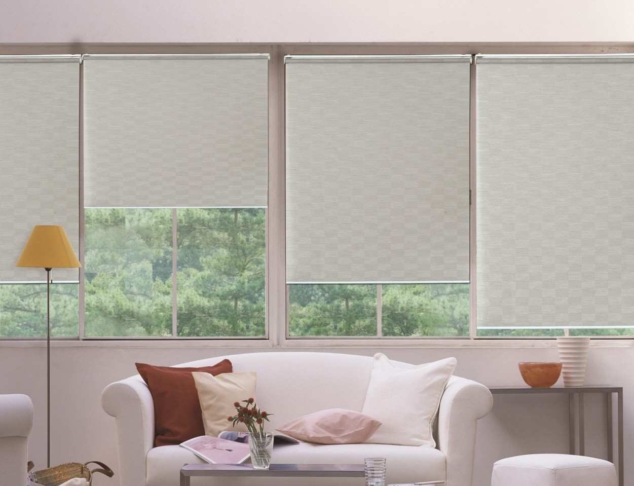 Roller Blinds With Reverse Roller Blinds (Image 13 of 15)