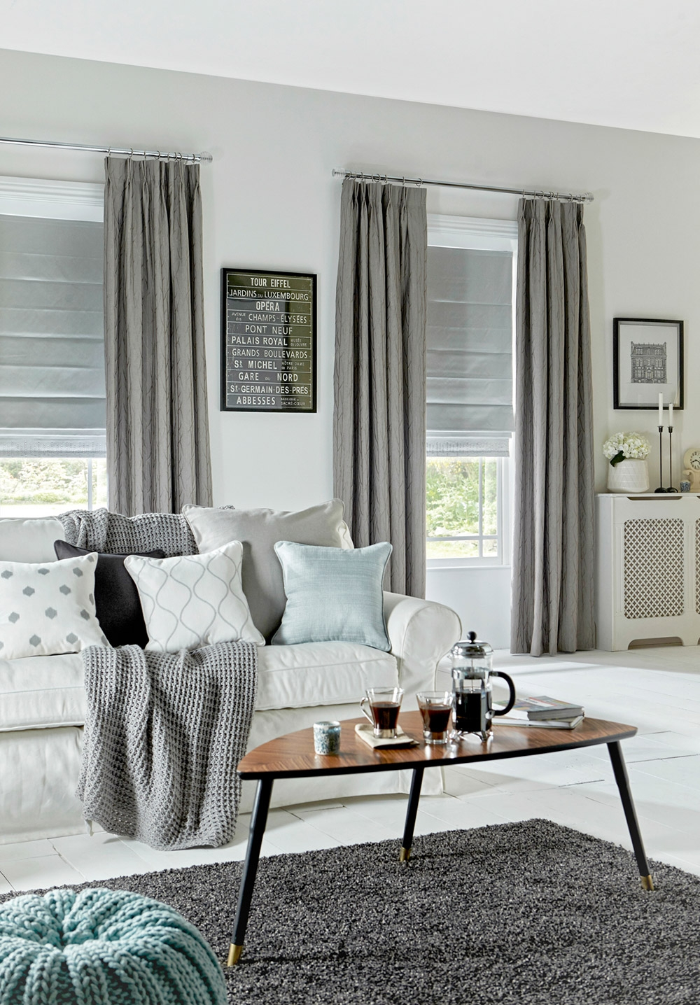 Roman Blinds Apollo Blinds Venetian Vertical Roman Roller For Curtains With Matching Roman Blinds (Image 11 of 15)