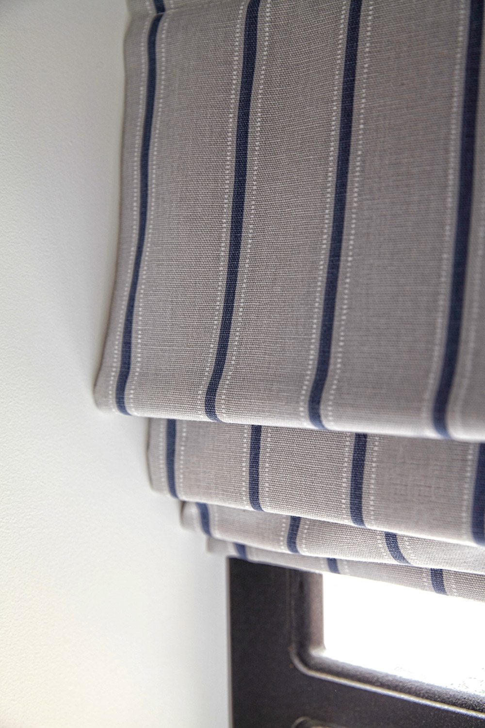 Roman Blinds Apollo Blinds Venetian Vertical Roman Roller Throughout Striped Roman Blinds (Image 10 of 15)