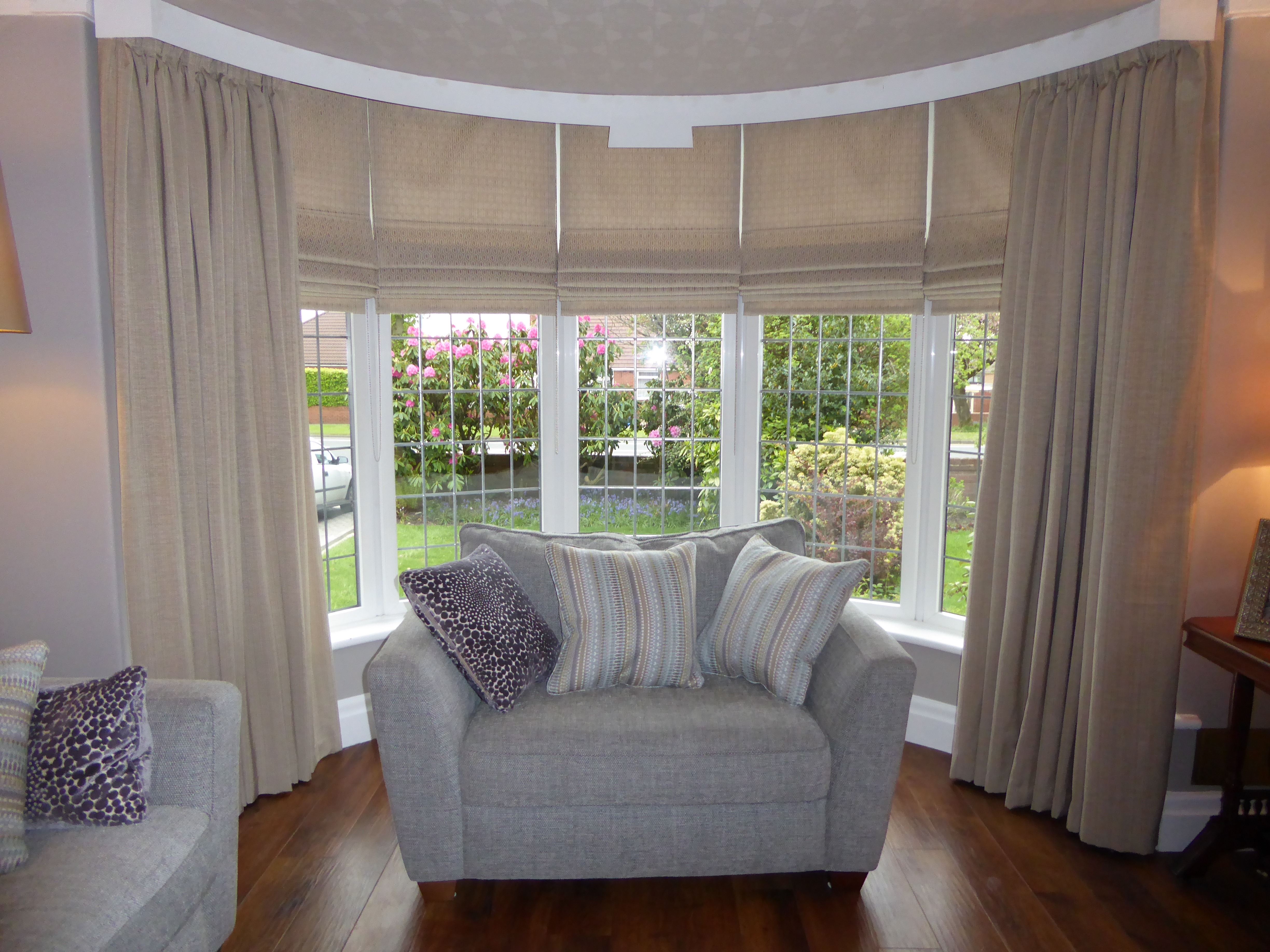 Roman Blinds Bury Roman Blinds Bury Blinds And Curtains Inside Matching Curtains And Roman Blinds (Image 11 of 15)