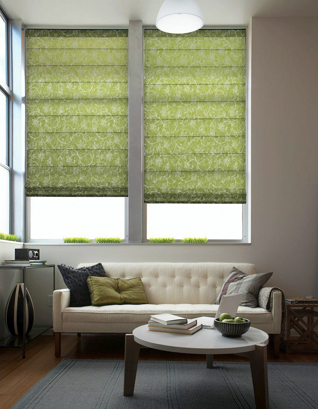 Roman Blinds Dl Blinds Regarding Green Roller Blinds (Image 14 of 15)
