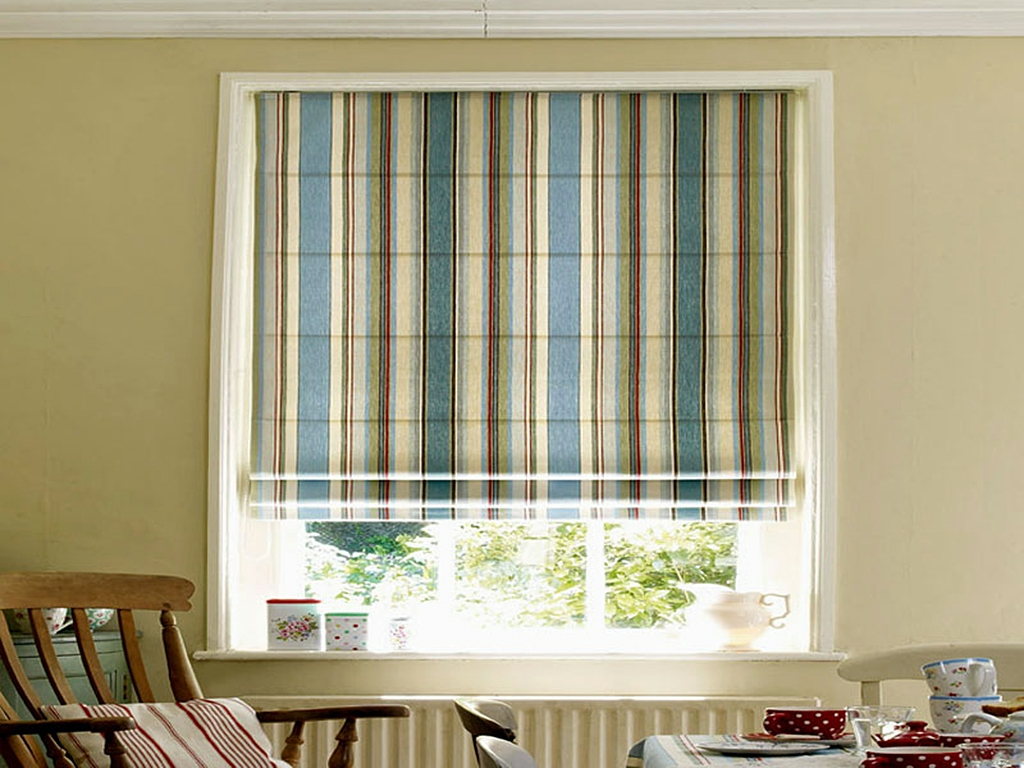 Roman Blinds Dl Blinds Throughout Striped Roman Blinds (Image 11 of 15)
