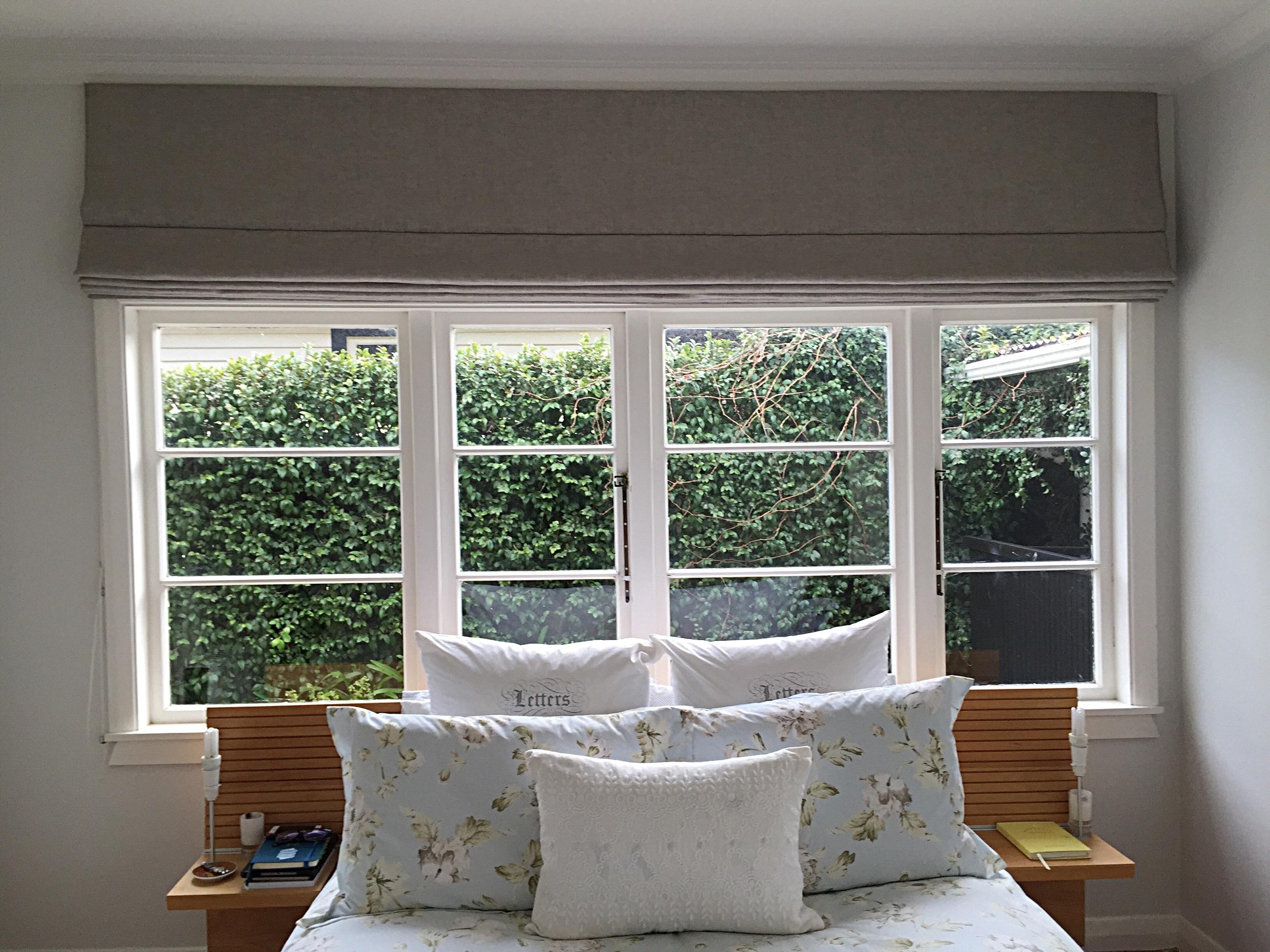 Roman Blinds For This Eastbourne Cottage Verdant Design Inside Natural Linen Roman Blinds (Image 10 of 15)