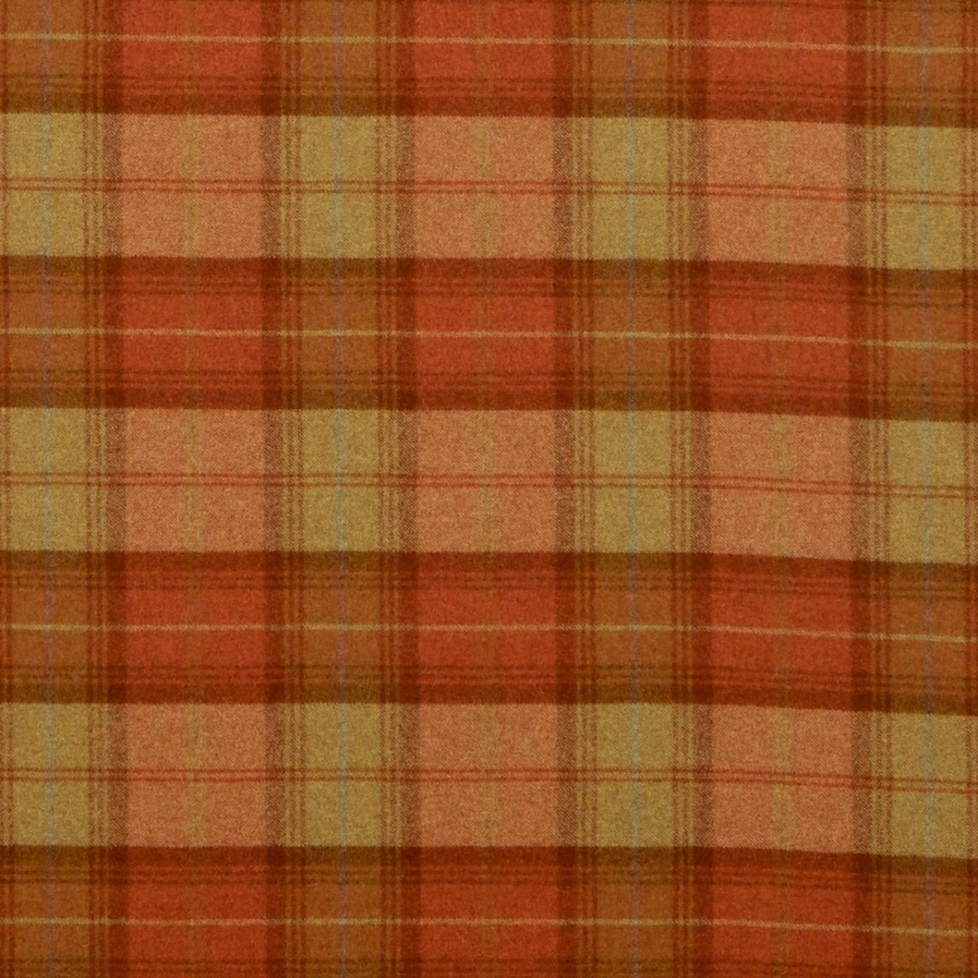 Roman Blinds In Woodford Plaid Fabric Burntorange Dhigwp308 Regarding Plaid Roman Blinds (Image 8 of 15)