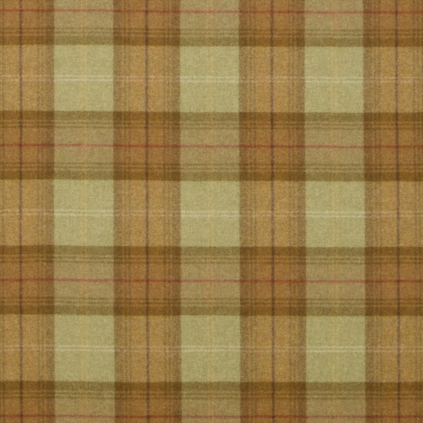 Roman Blinds In Woodford Plaid Fabric Lodenolive Dhigwp302 Throughout Plaid Roman Blinds (Image 11 of 15)