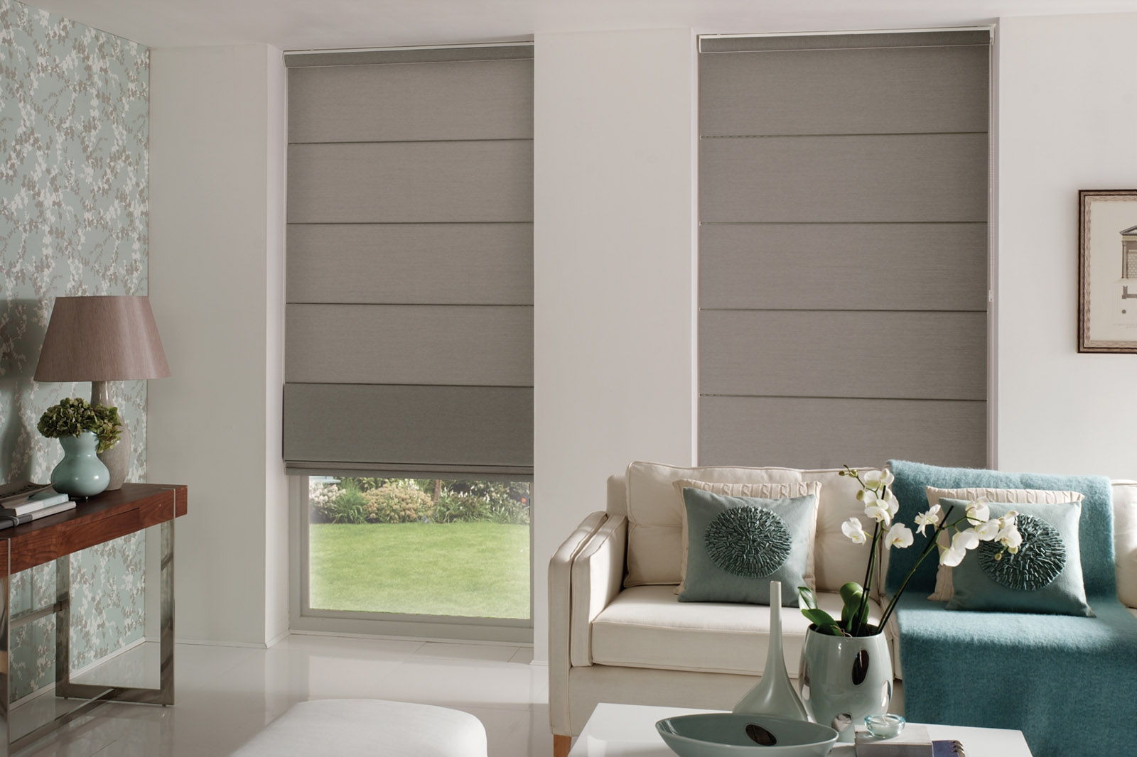 Roman Blinds Indesignblinds With Luxury Roman Blinds (Image 13 of 15)