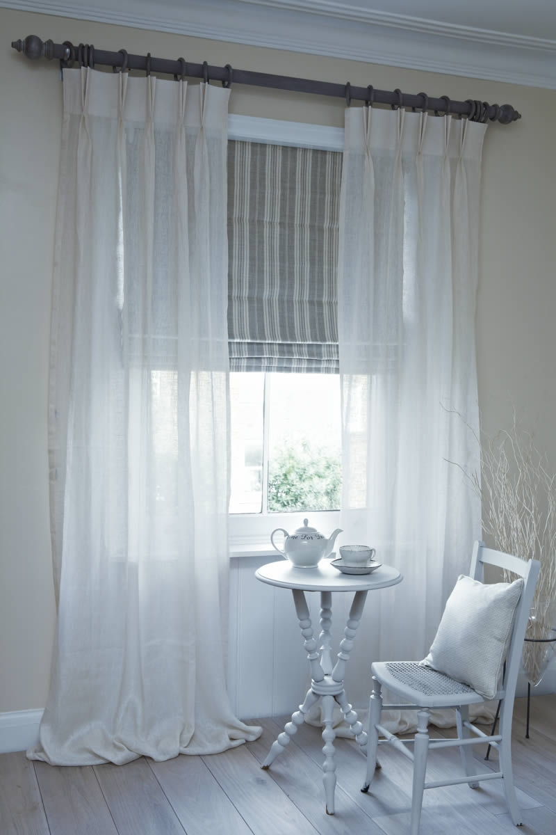 Roman Blinds Made To Measure Roman Blinds Bespoke Roman Blinds Uk Inside Voile Roman Blinds (Image 8 of 15)